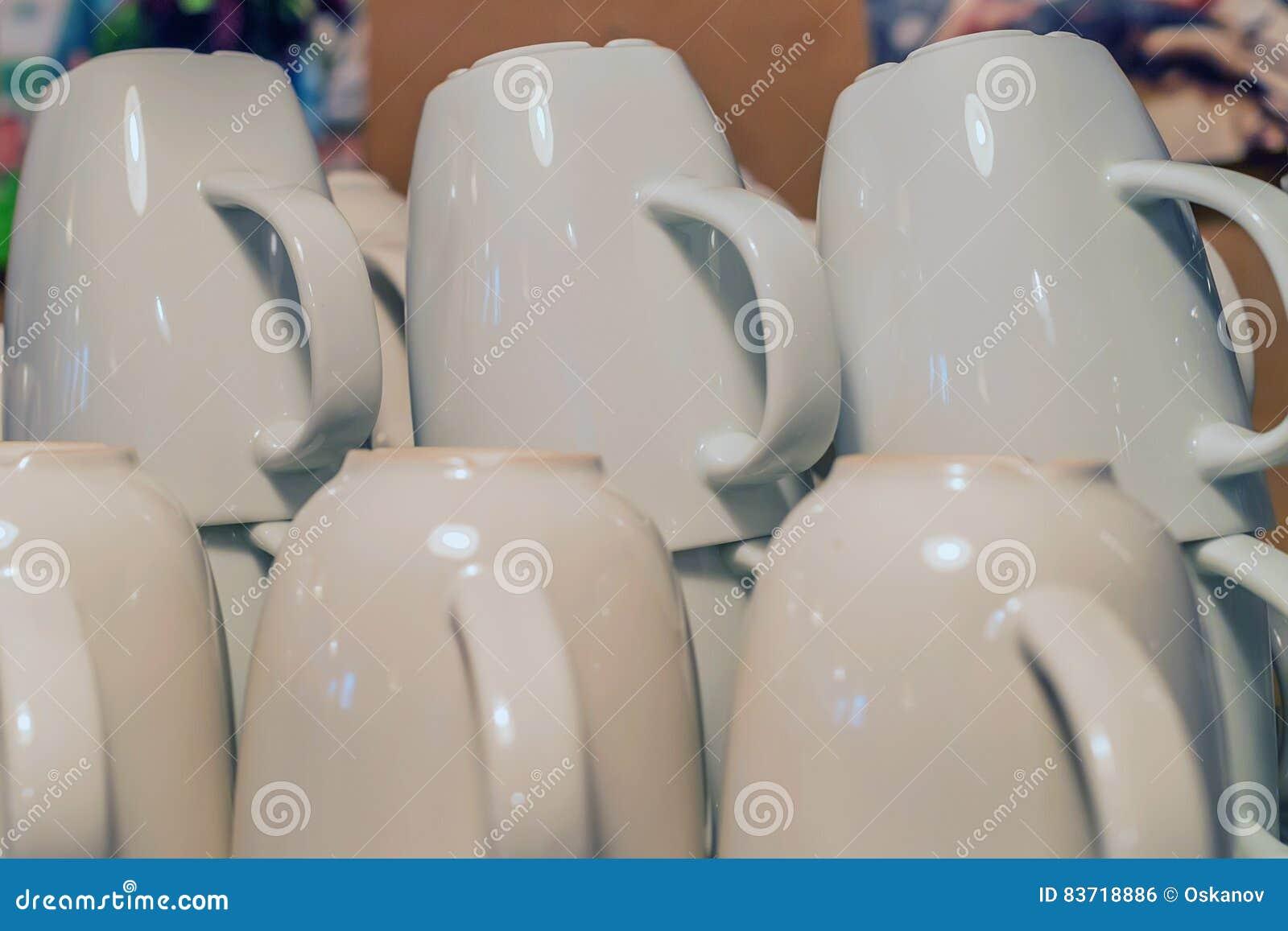 Photo Of Many Mugs Stock Photo