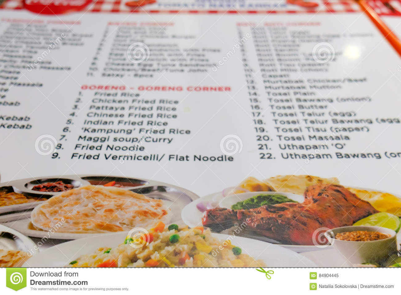 Photo menu of indian beach restaurant in malaysia stock image download photo menu of indian beach restaurant in malaysia stock image image of collage forumfinder Image collections