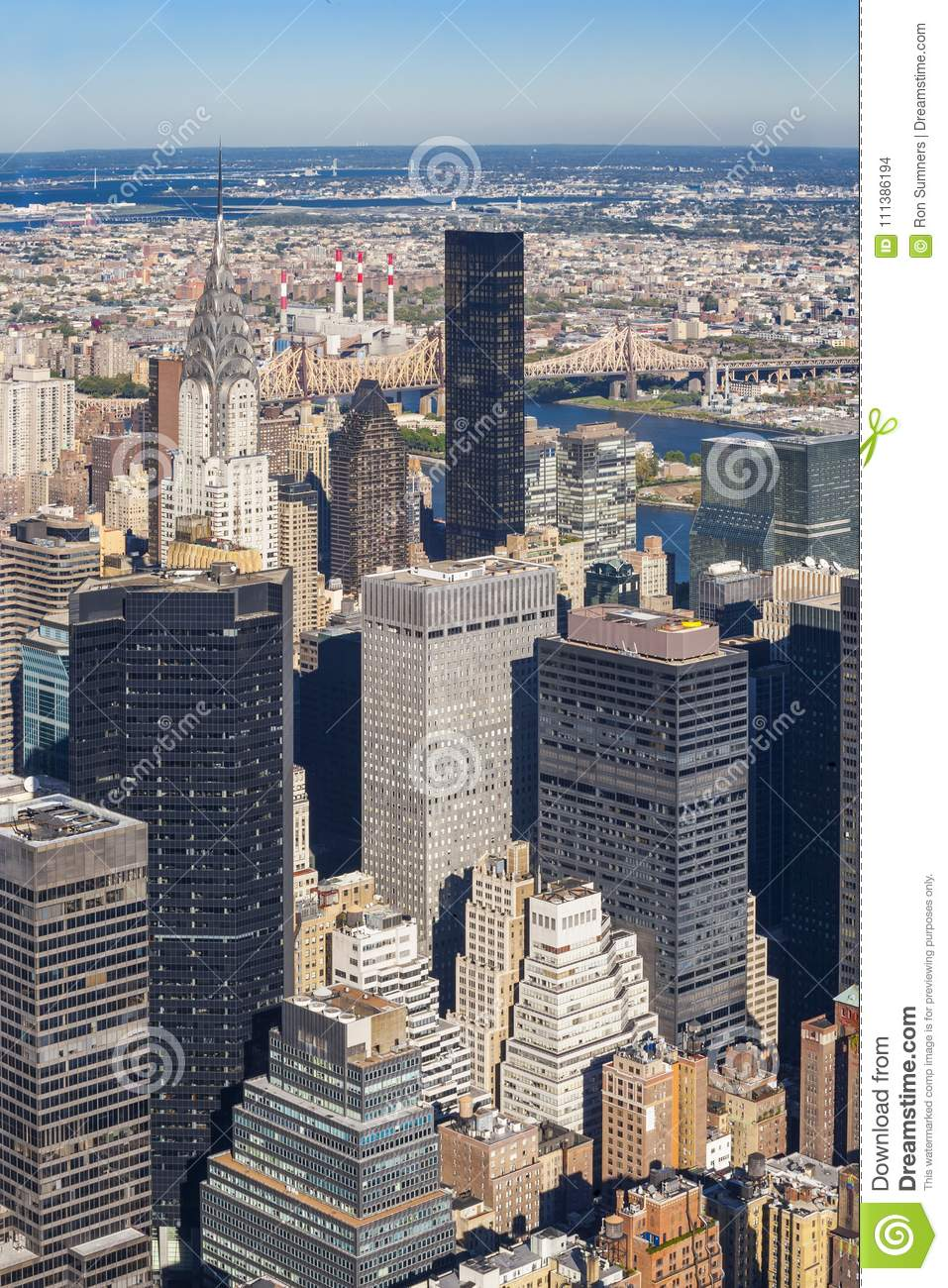 Midtown Manhattan cityscape at midday