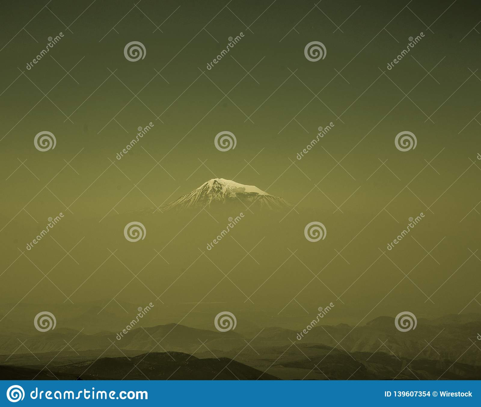 Ararat mountain from afar