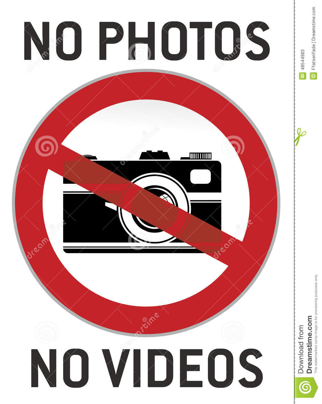 No photography and video sign or pictogram.