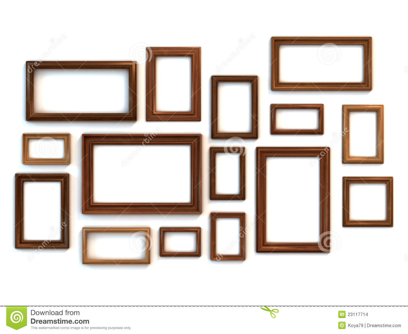 Paint For Glasses Frame : Photo Or Painting Frames Set Stock Images - Image: 23117714