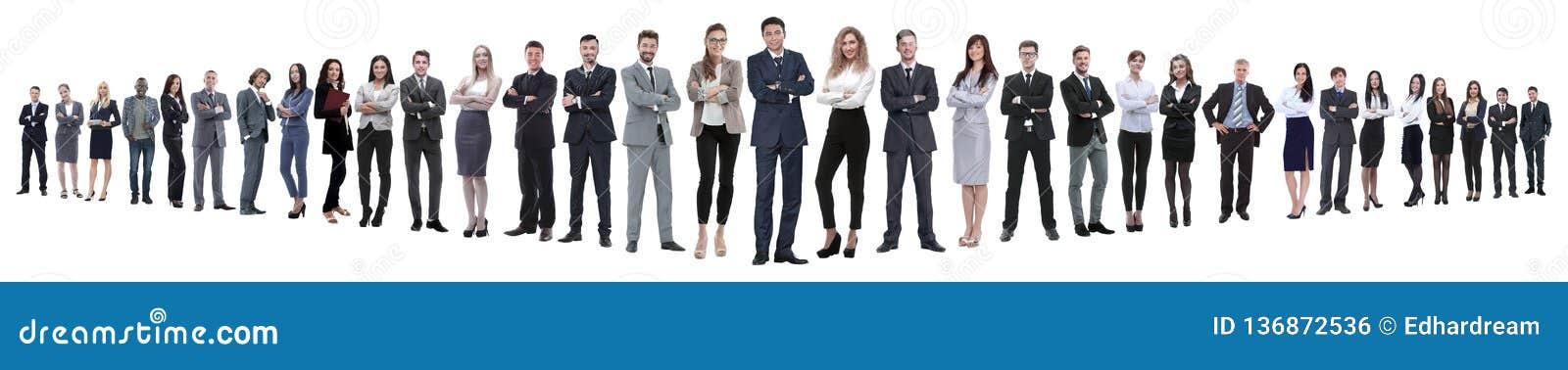 Photo panoramique d un groupe d hommes d affaires sûrs