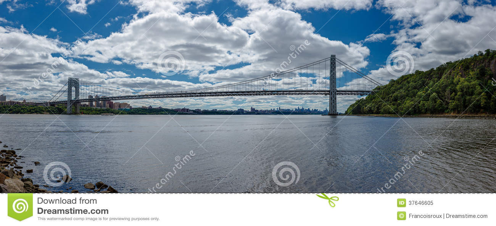 Photo panoramique de George Washington Bridge au-dessus de Hudson River