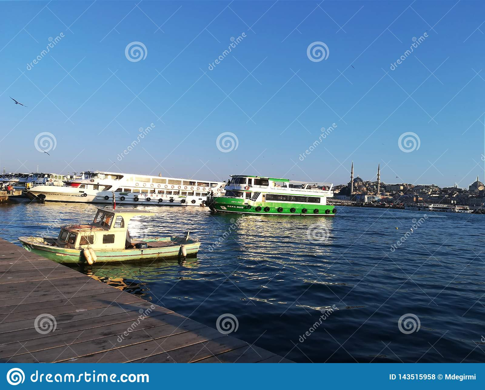 View of estuary in Istanbul.
