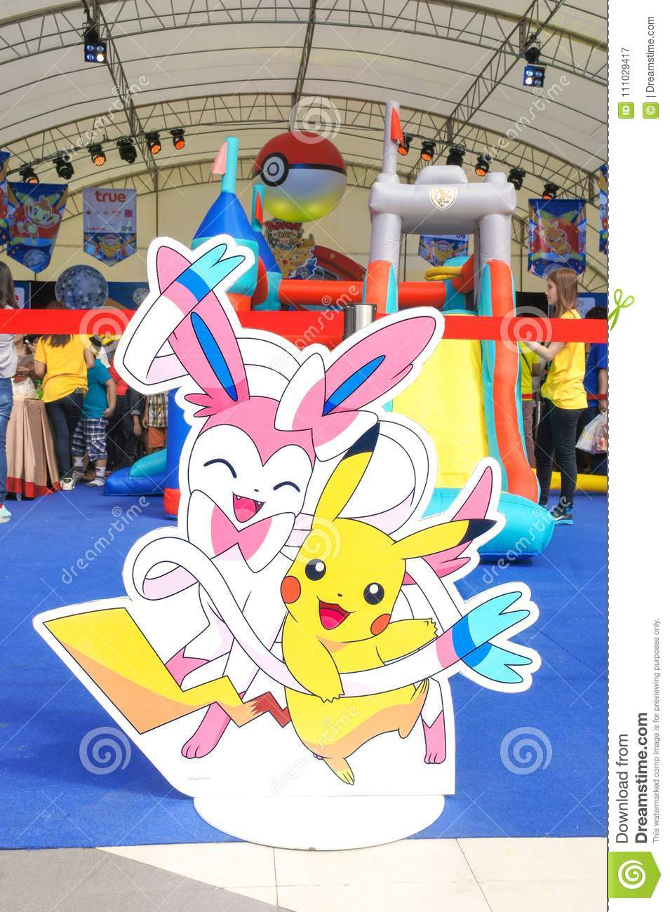 Photo Of Pikachu Sylveon Di Cut For Photo Booth On Pokemon Day