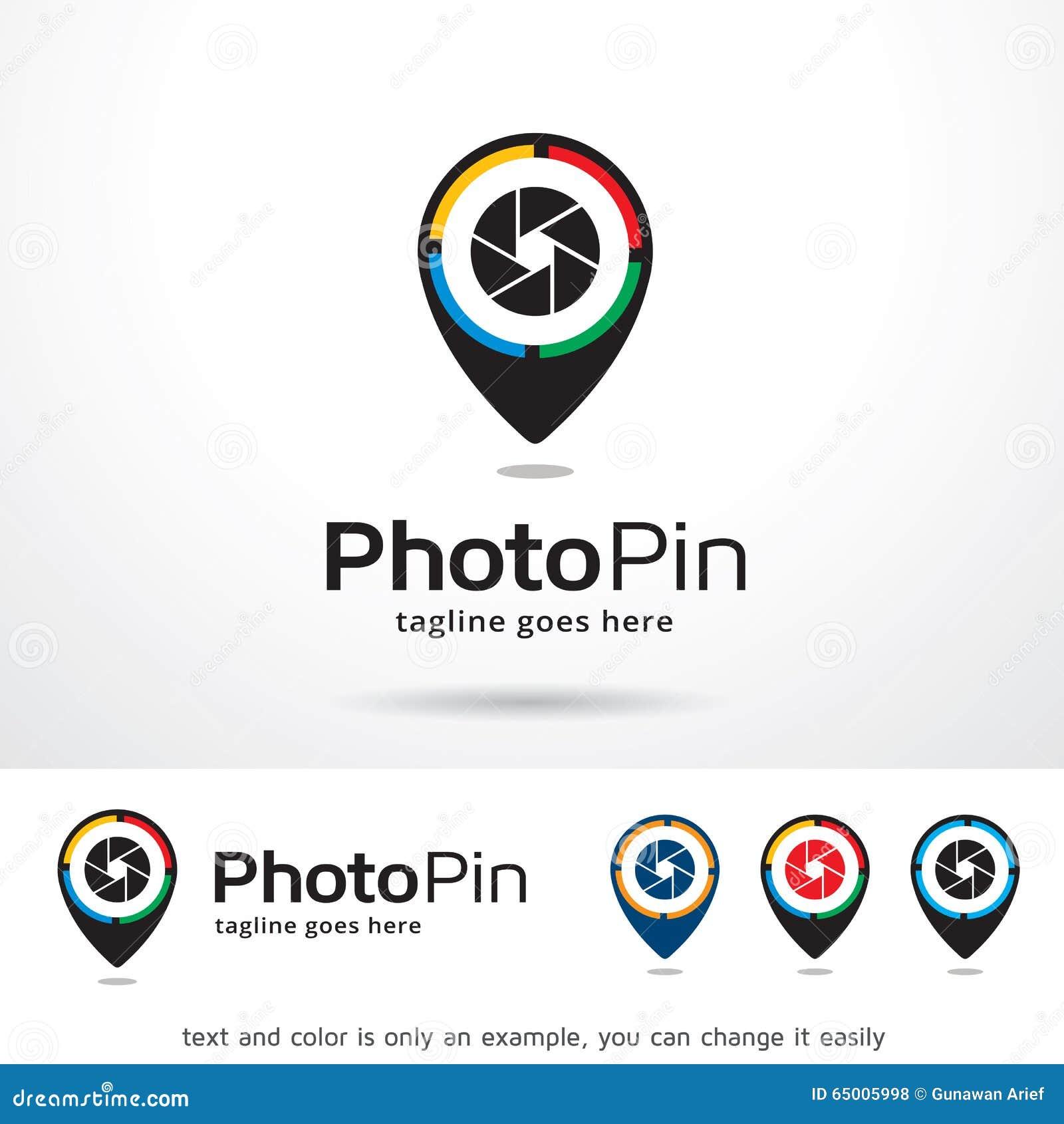 photo pin template design vector stock vector illustration of