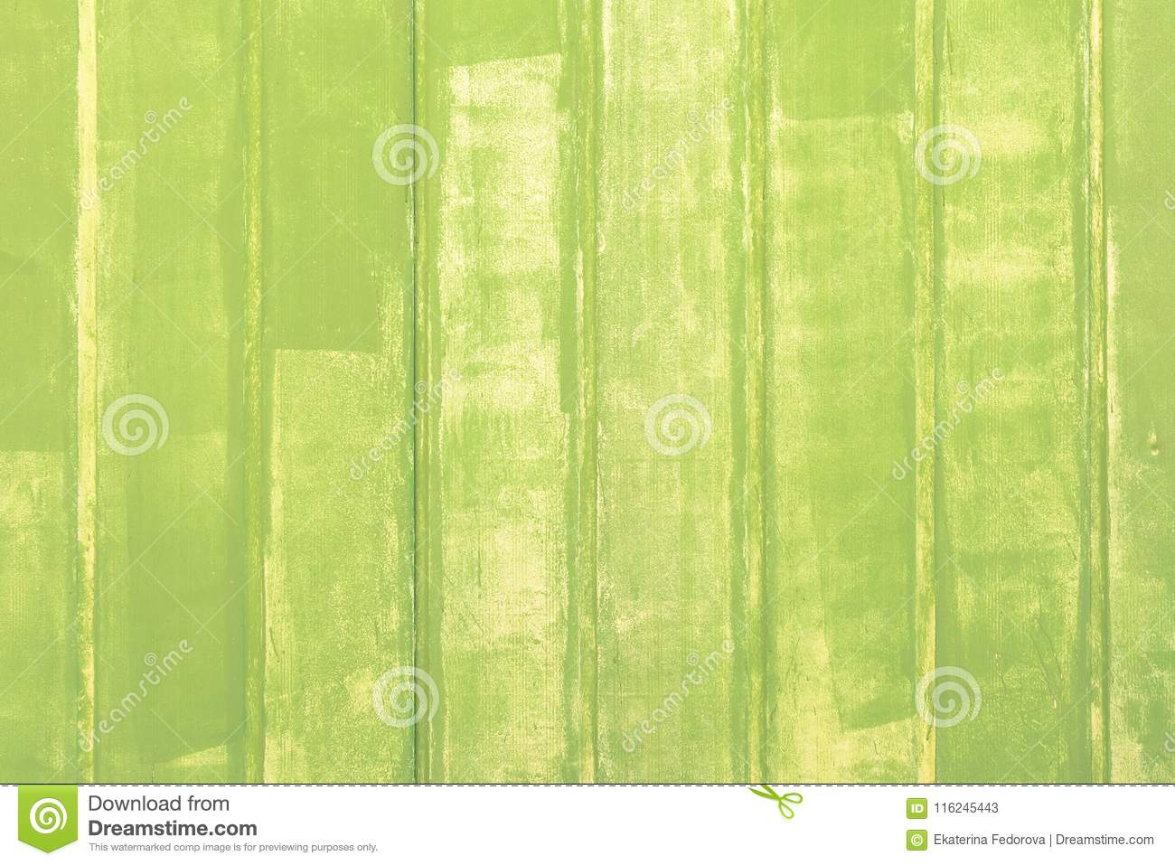 Photo Planks With Paint A Pale Green Color. The Wall Is Made Of ...
