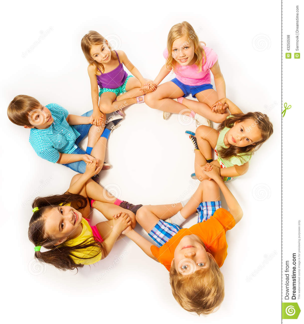 Photo Of Six Kids In A Lotus Pose Stock Photo - Image of ...
