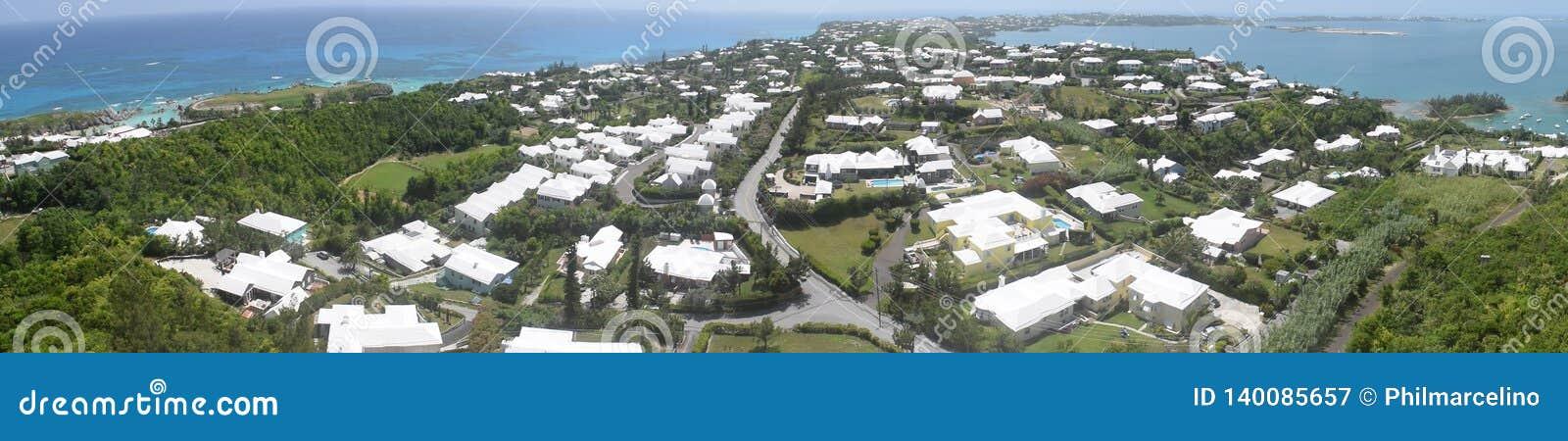 Panoramic view of southern Bermuda