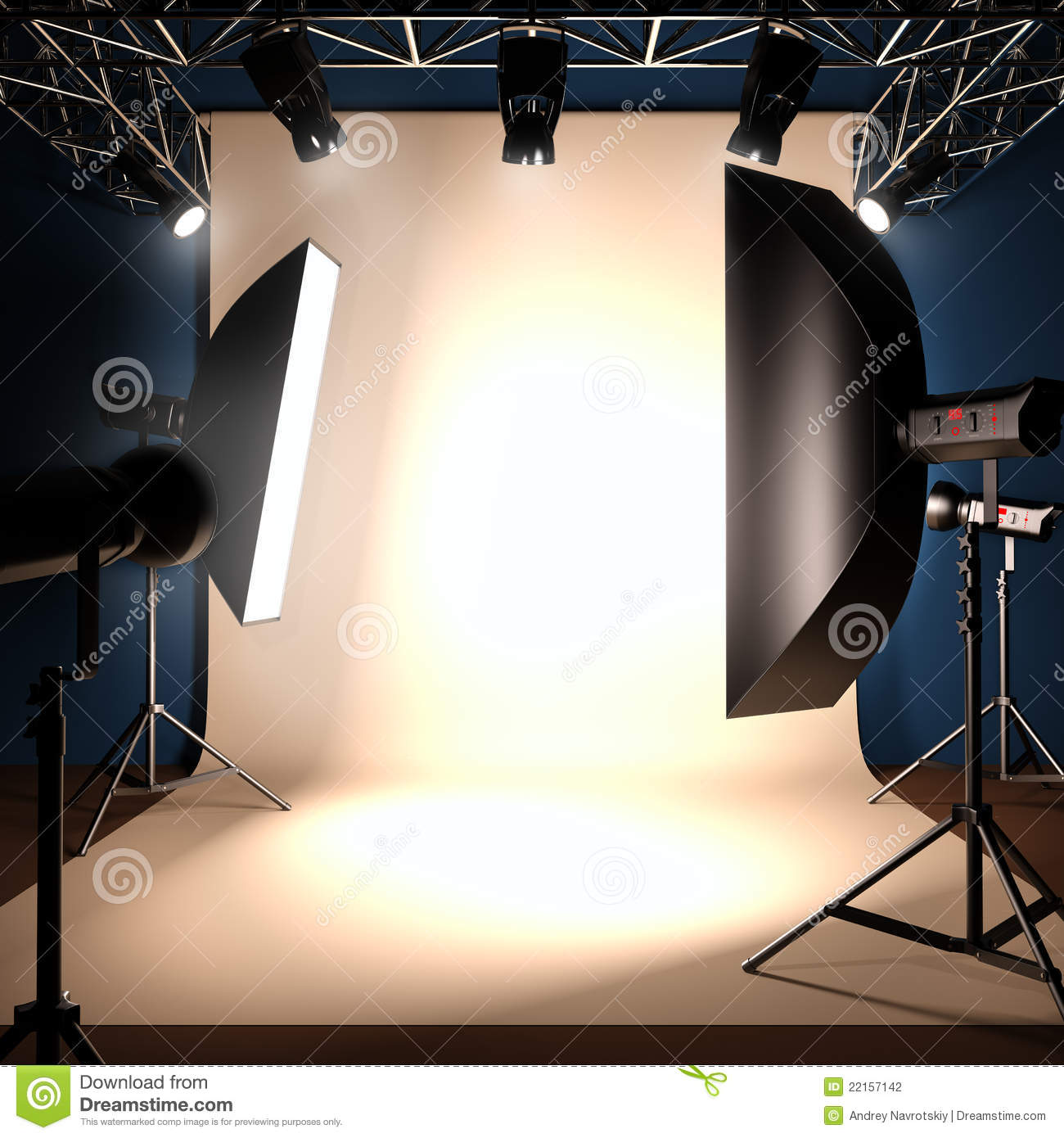 A photo studio background template.