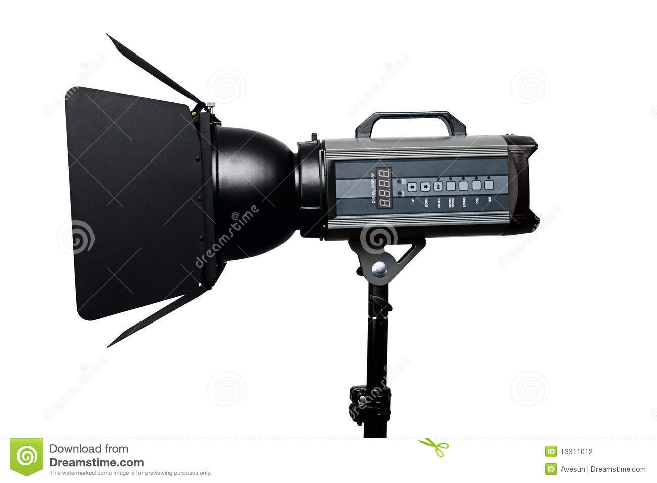Photo Studio Flash Lighting Equipment Stock Photography - Image