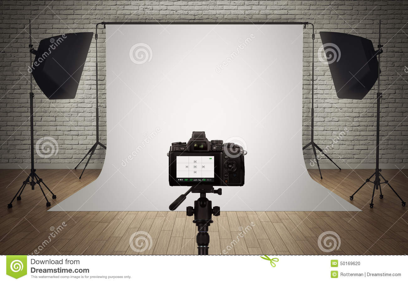 Photo studio light setup stock illustration. Illustration of studio ...