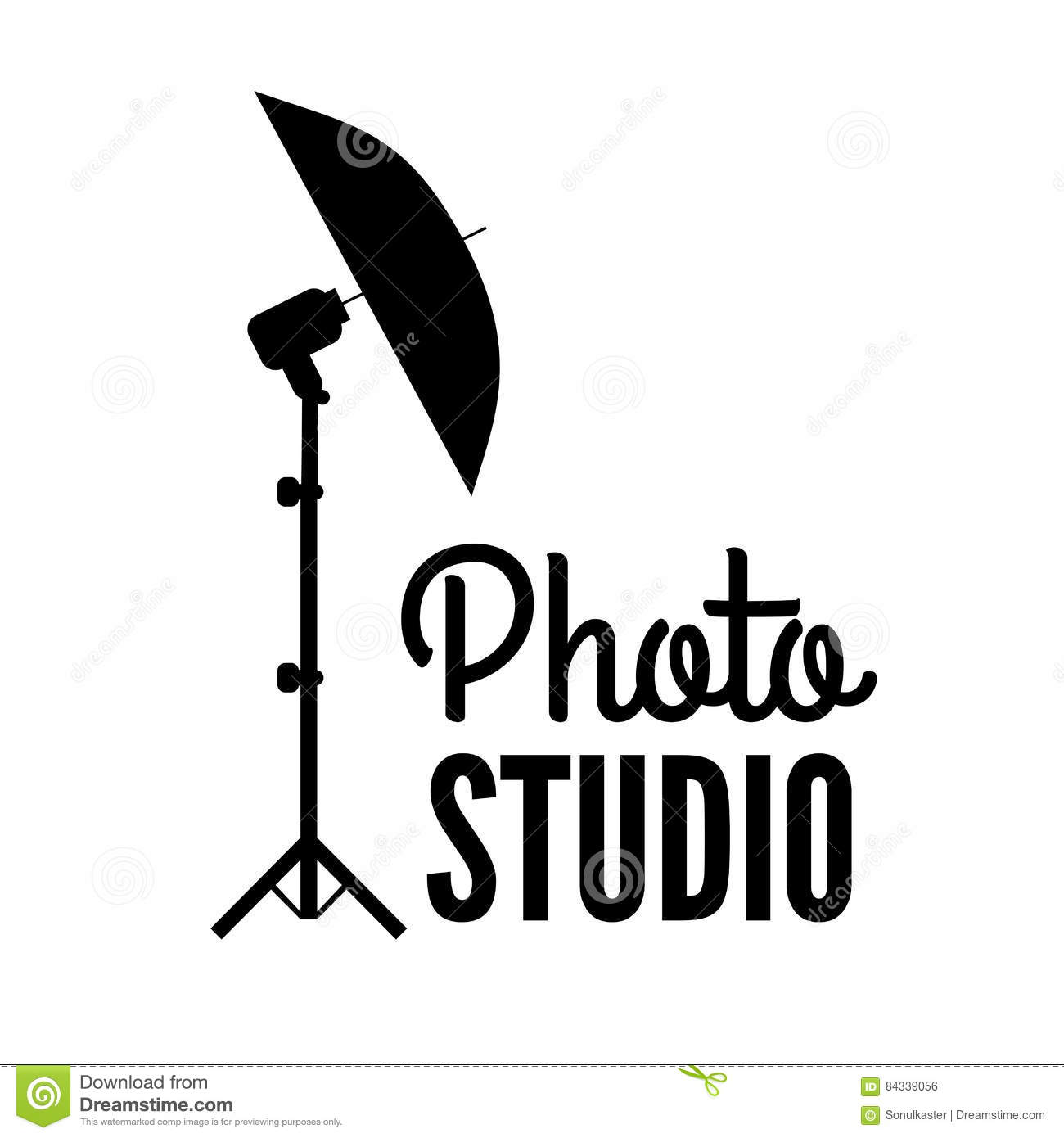 photo studio or professional photographer logo template stock vector