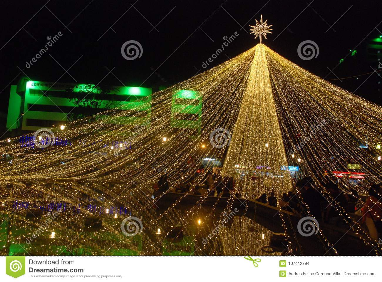 download overview big star christmas lights editorial stock image image of garden amarilla