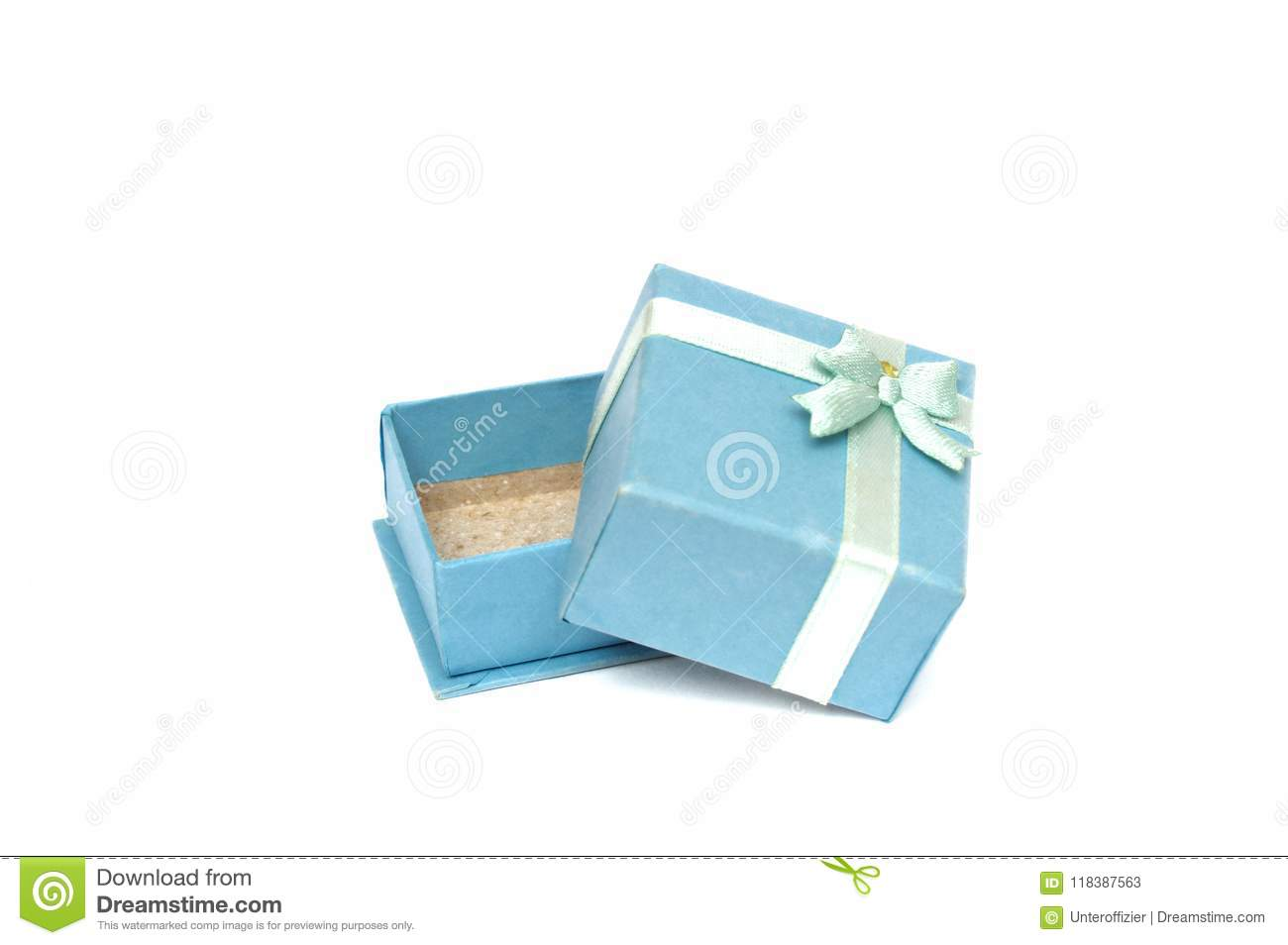 A Small Light Blue Colored Ring Gift Box Stock Image Image Of