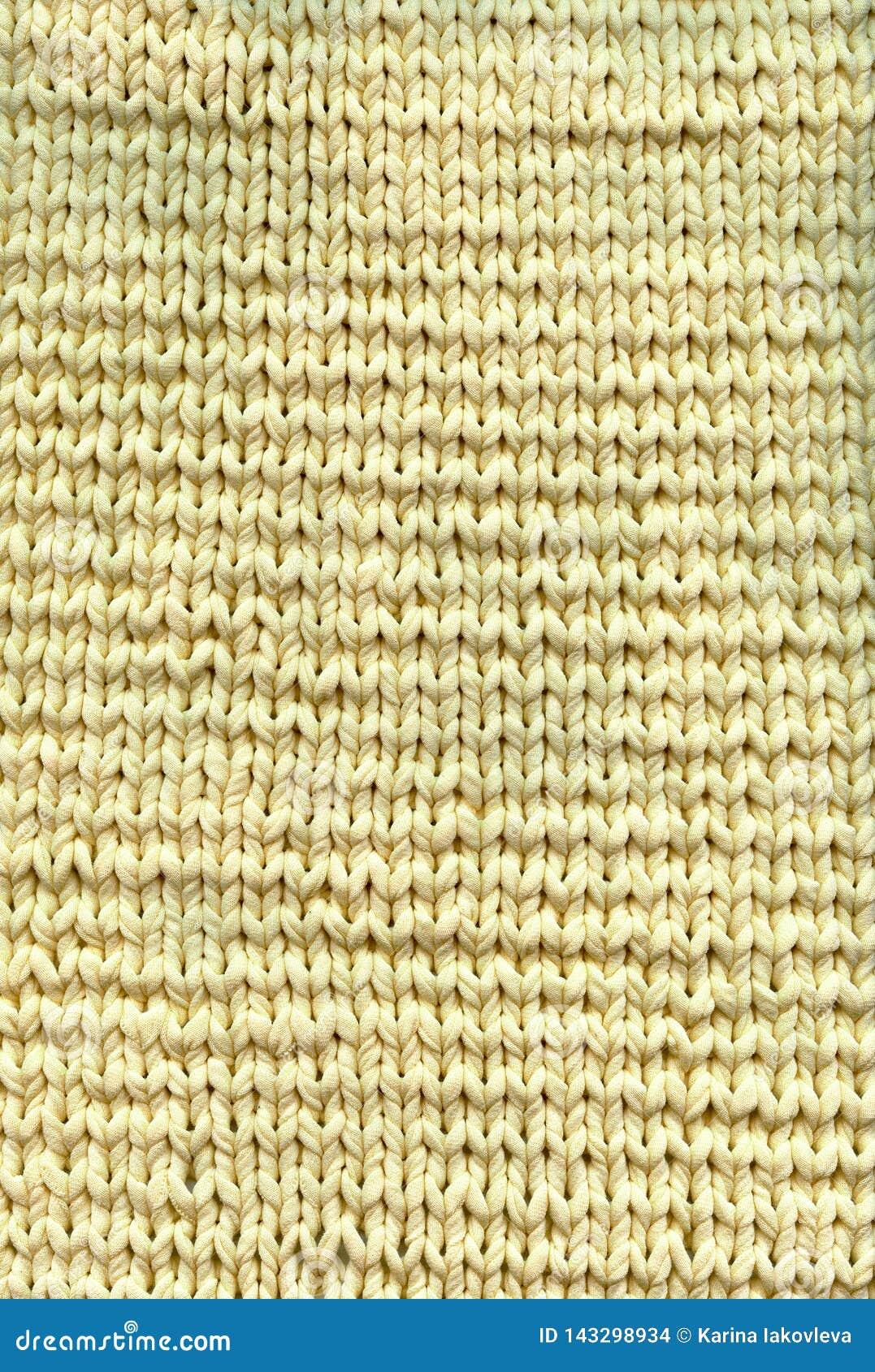 Photo of texture of knitting handmade blanket
