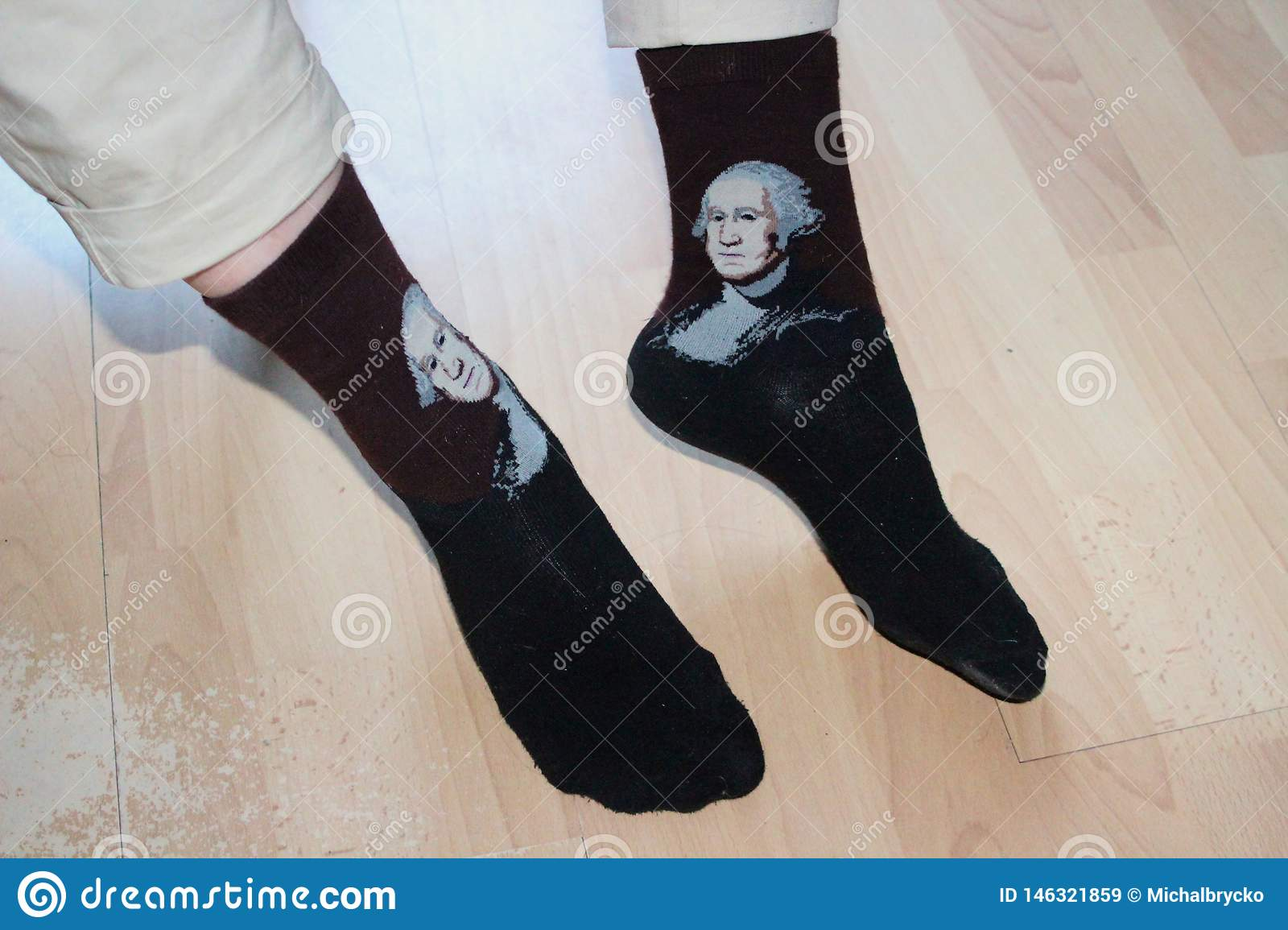 Socks with Mozart on the soft feet