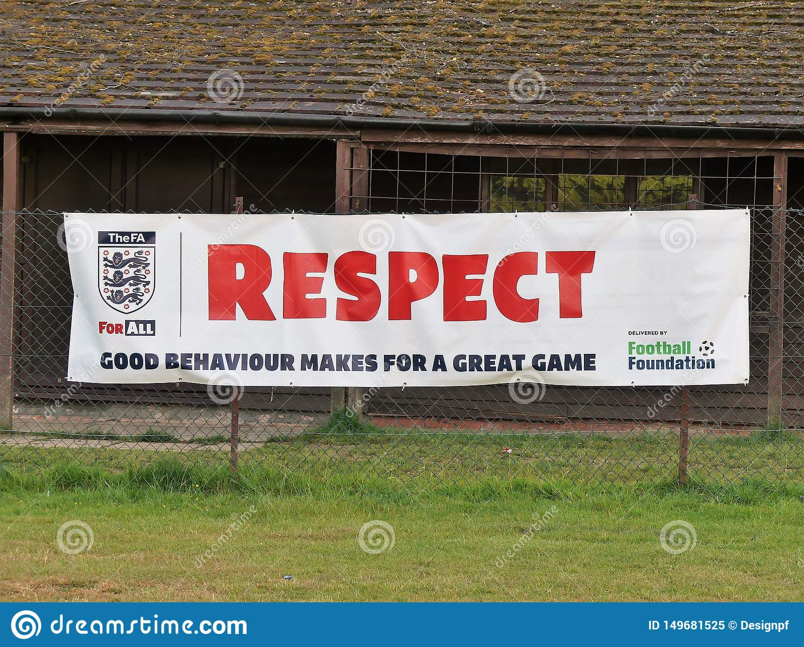 The FA and Football Foundation Respect scheme sign