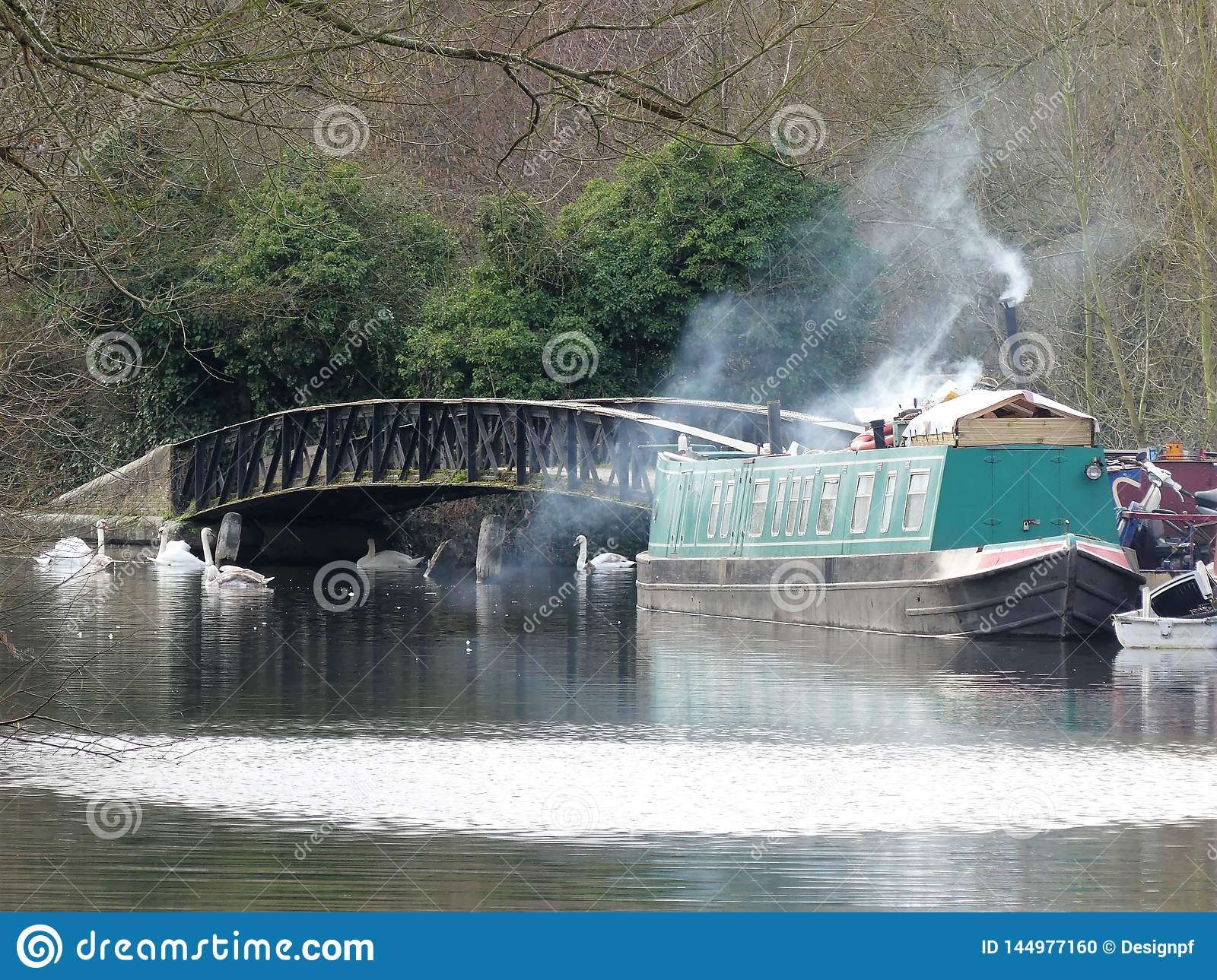 Narrowboat on the Grand Union Canal at Rickmansworth