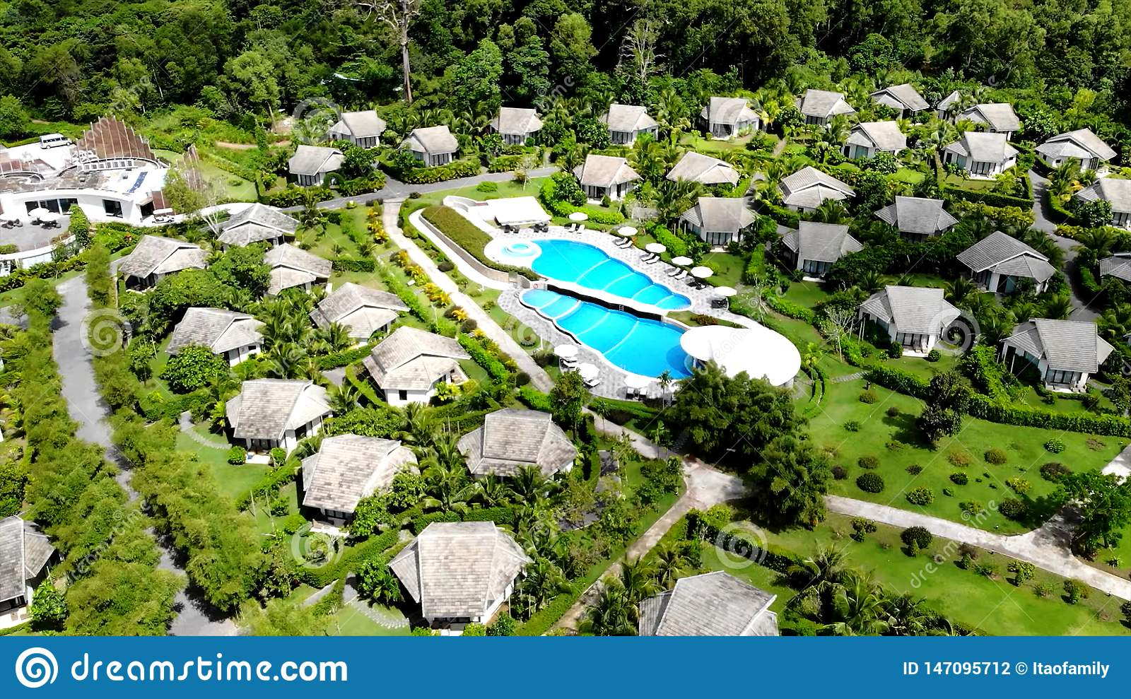 Beautiful guest chalets on one of the Islands of Oceania