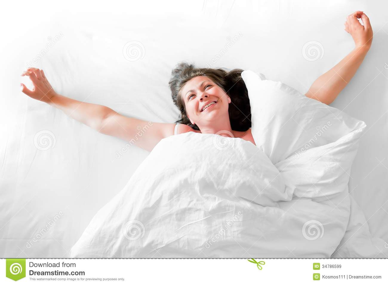 photo of a young woman waking up happy royalty free stock Taking a Shower Clip Art Girl Brushing Teeth Clip Art