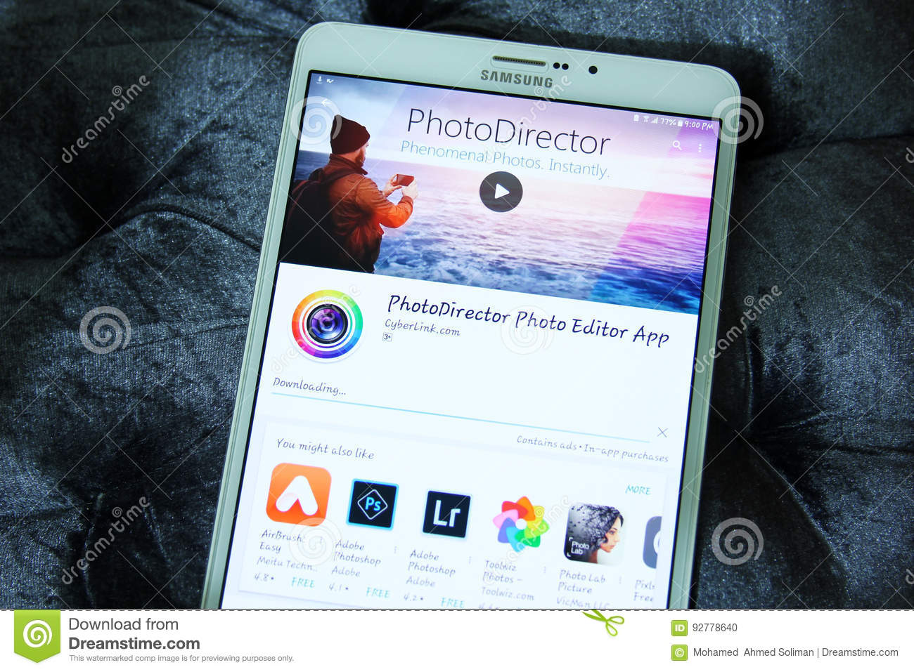 Photodirector Photo Editor Mobile App Editorial Image - Image of