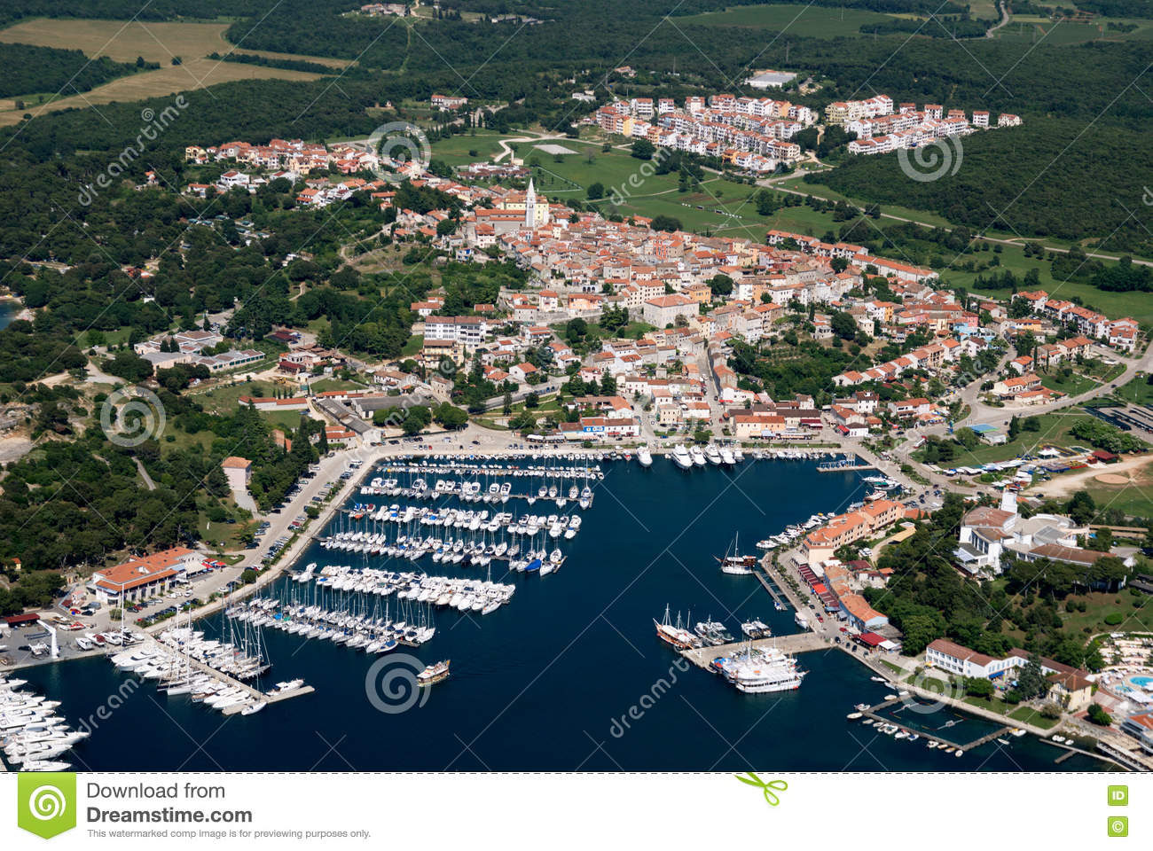 Photograph from air of Vrsar in Istria,Croatia