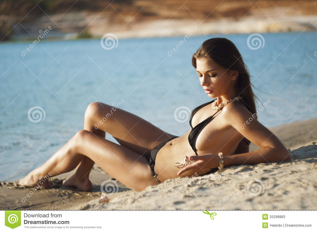Beautiful women on the beach