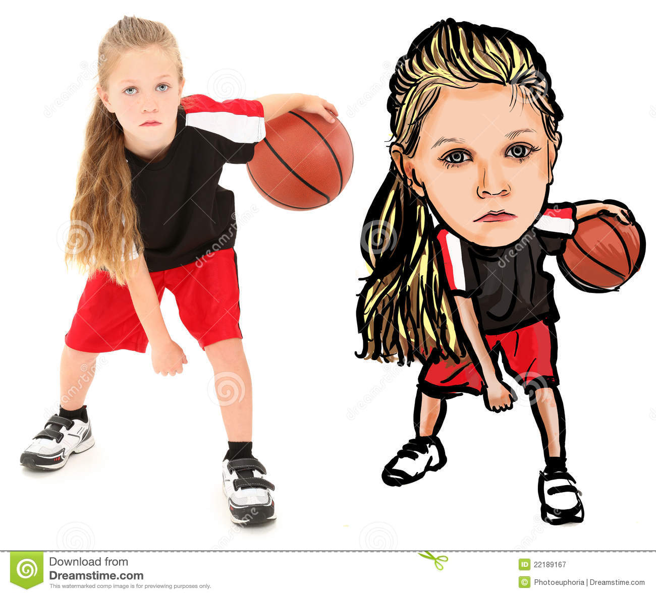 Photograph Illustration of Child with Basketball