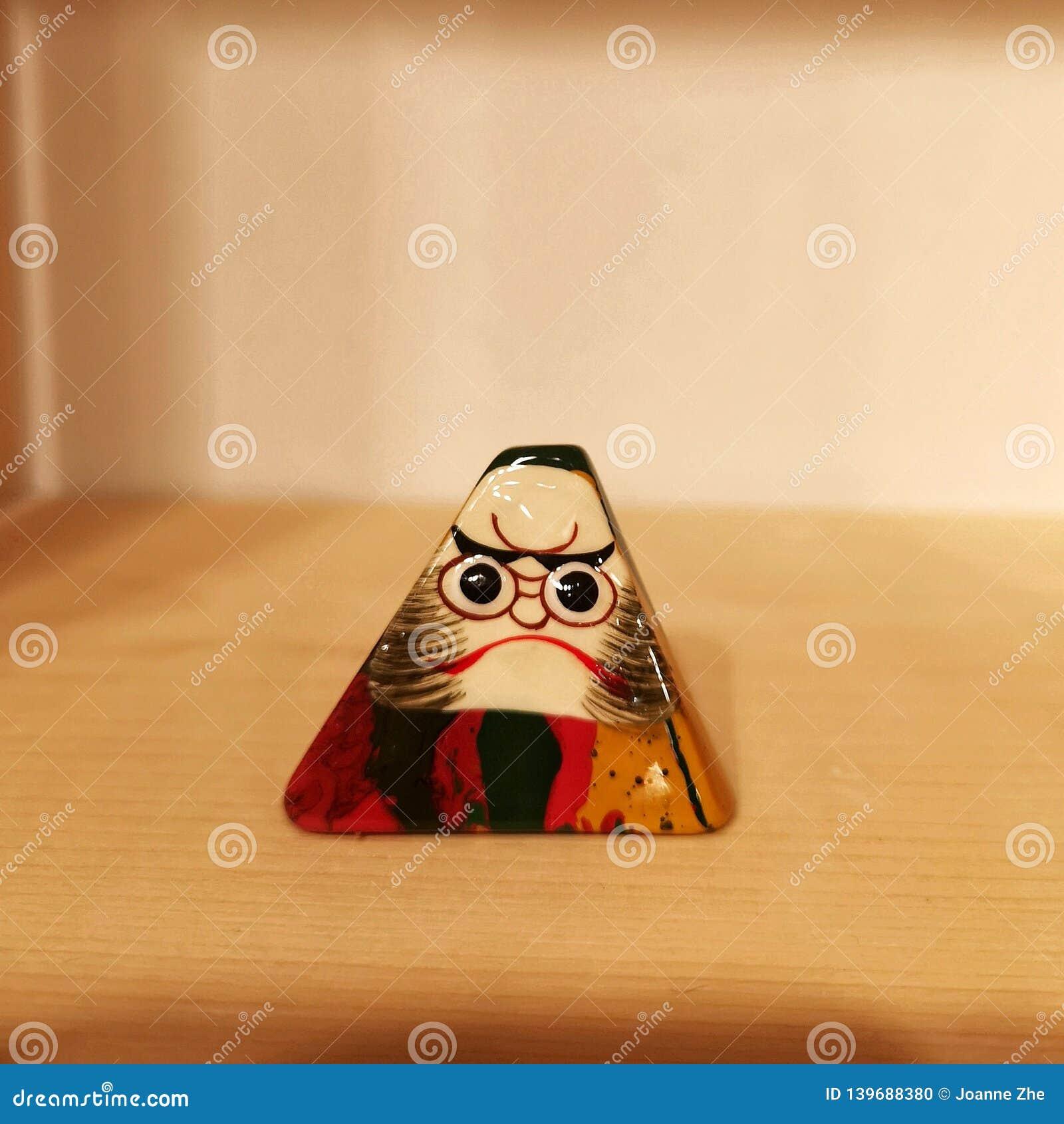 Traditional Japanese toy Daruma or Dharma