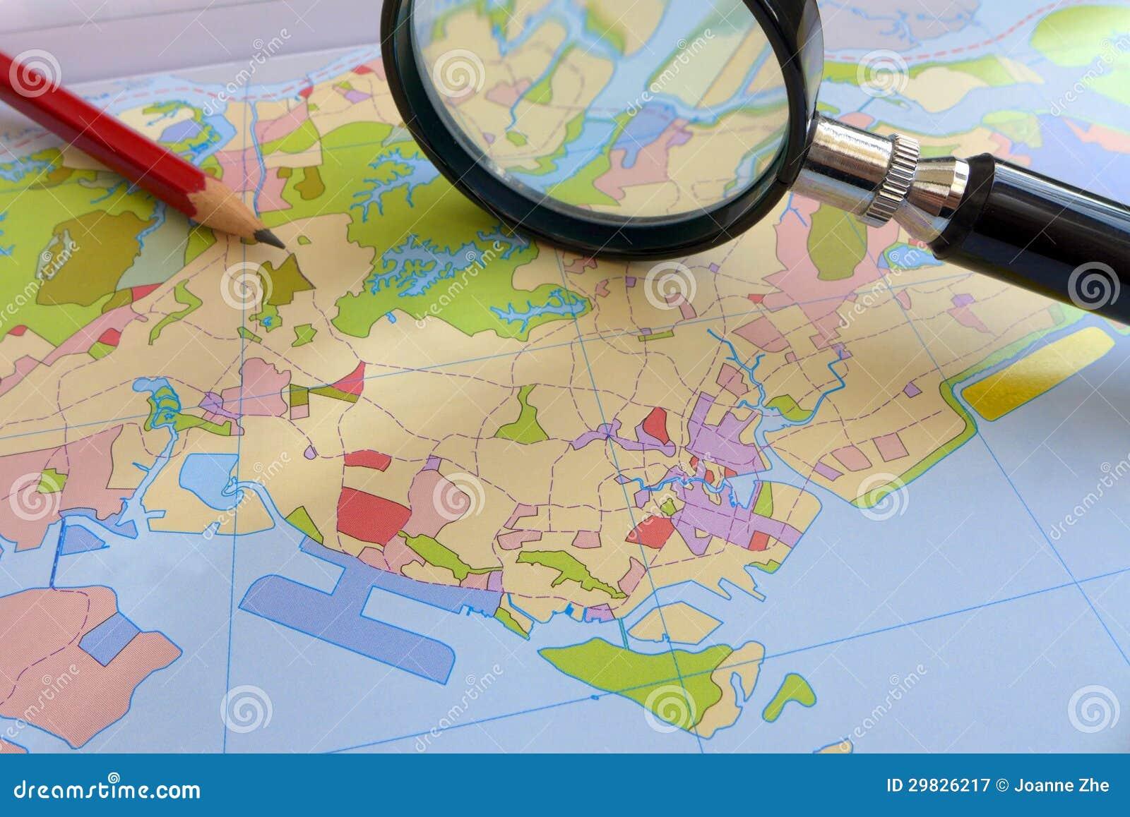 Land usage - Coastal city planning concept