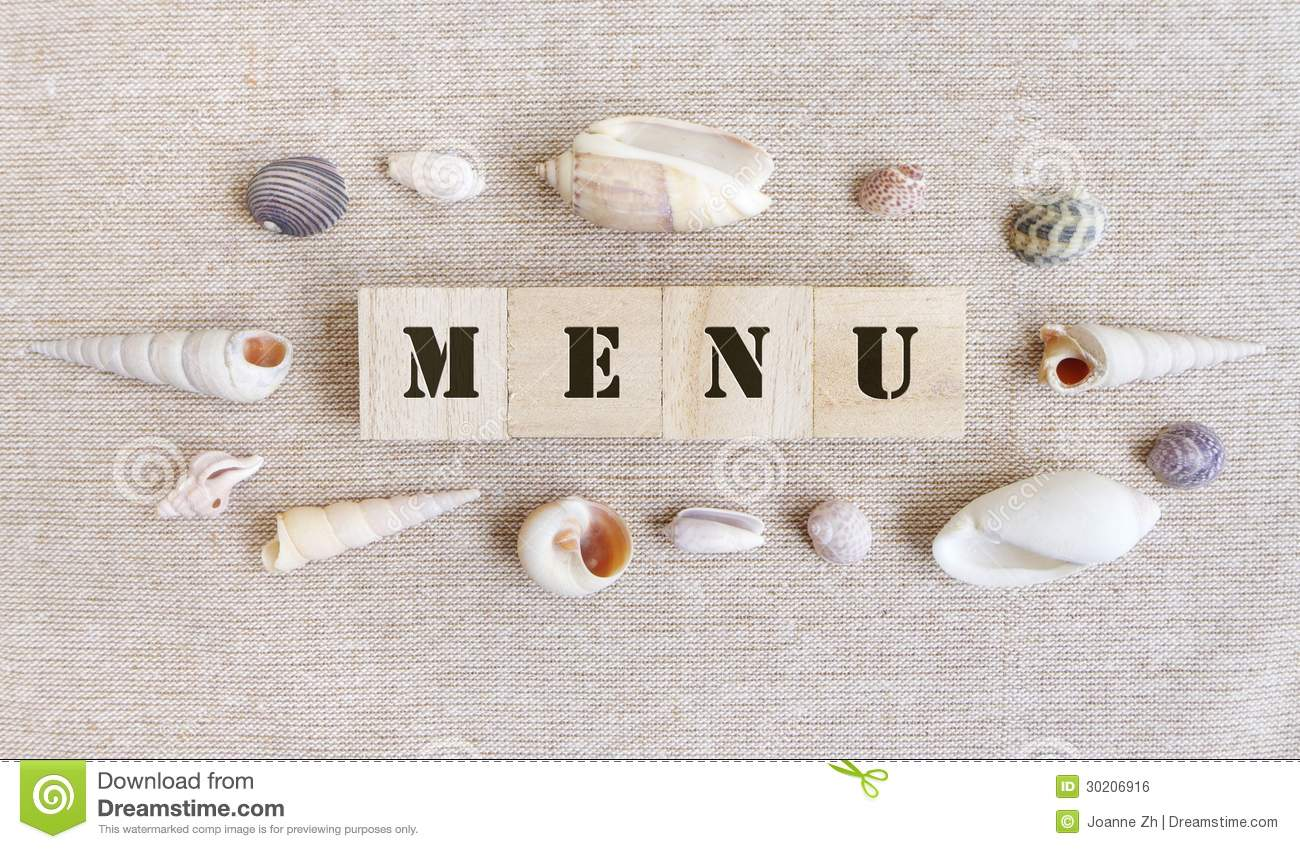 Menu, Sea Food Theme Royalty Free Stock Image - Image: 30206916