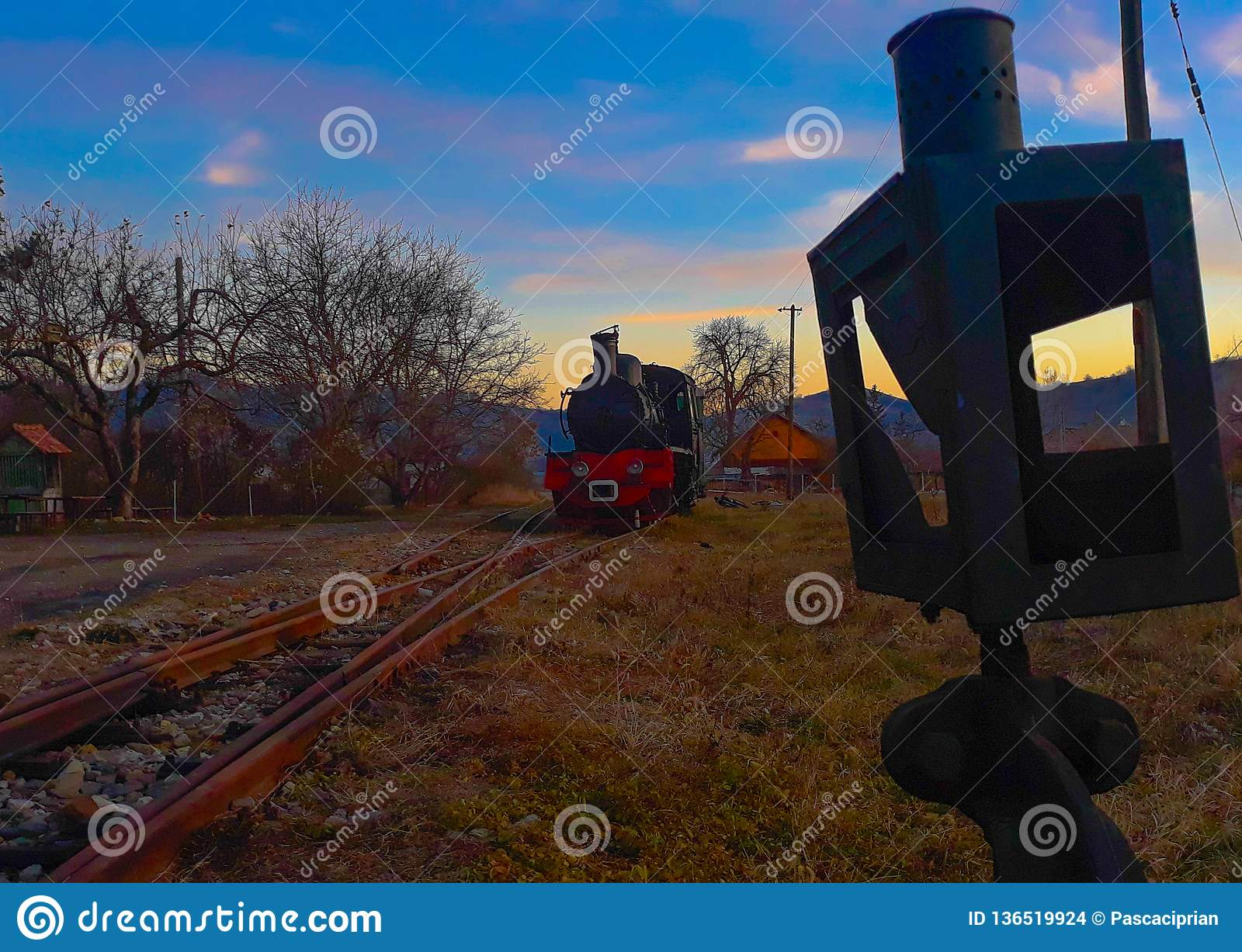 The train and the lever