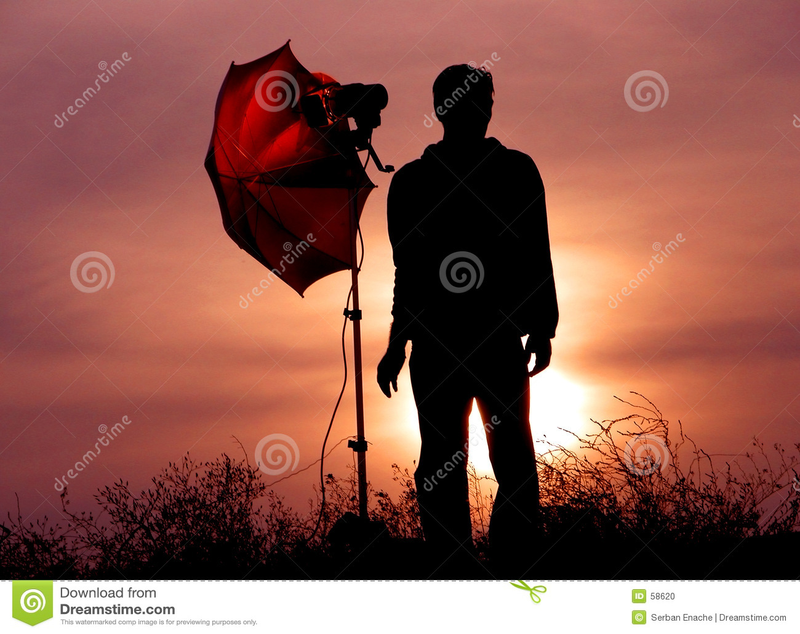 Photographe au crépuscule