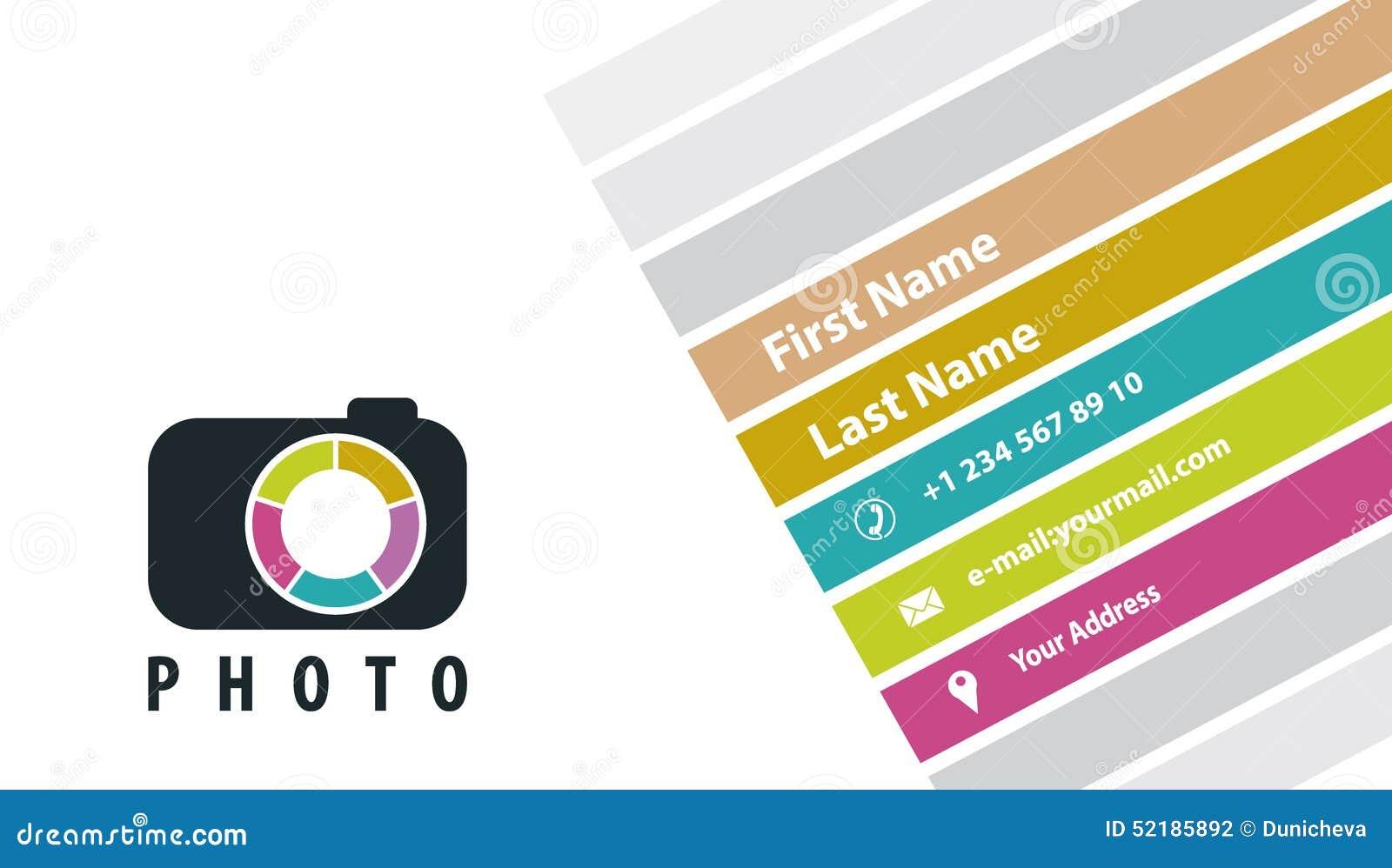 Photographe Creatif De Carte Visite Professionnelle