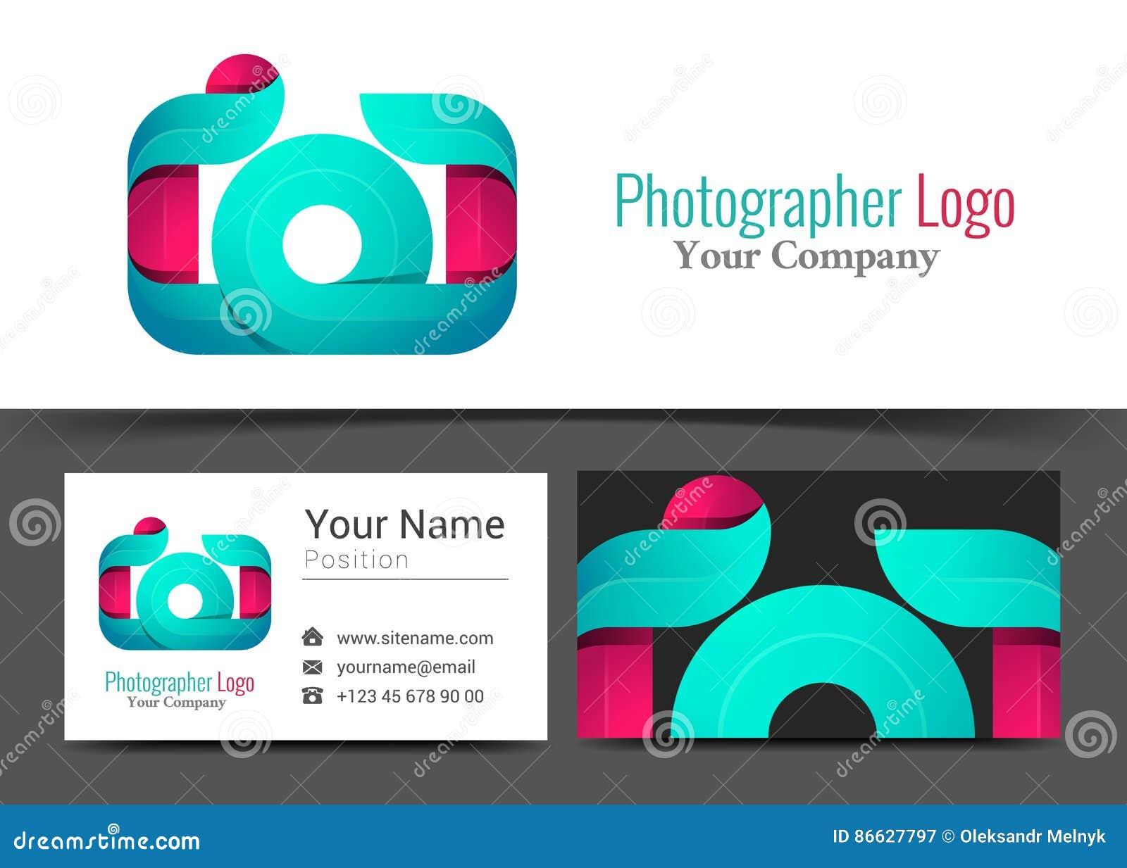 Photographe Studio Corporate Logo D Appareil Photo Et Signe De Carte Visite Professionnelle