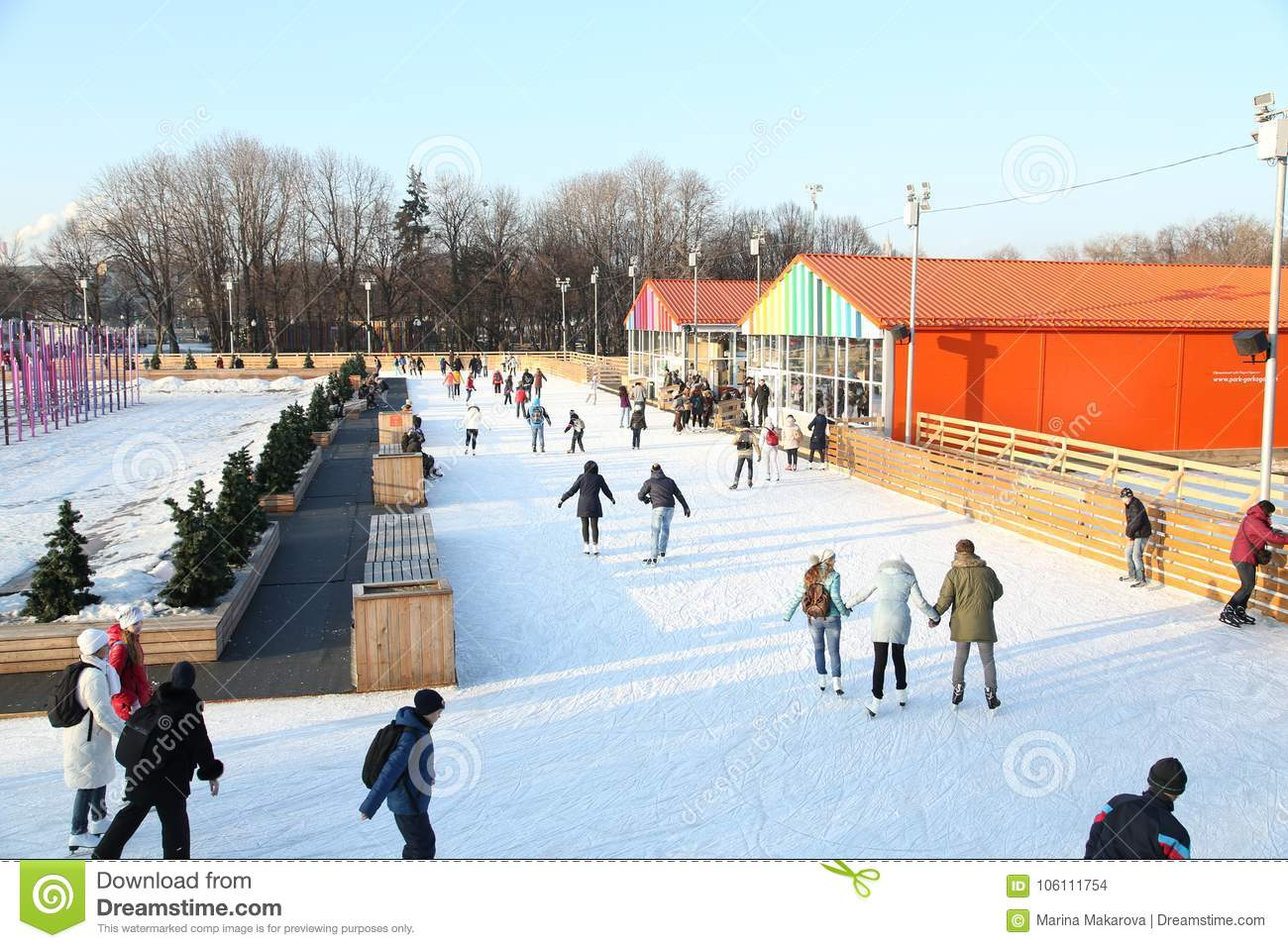 Skating rink in Gorky Park: photo and reviews
