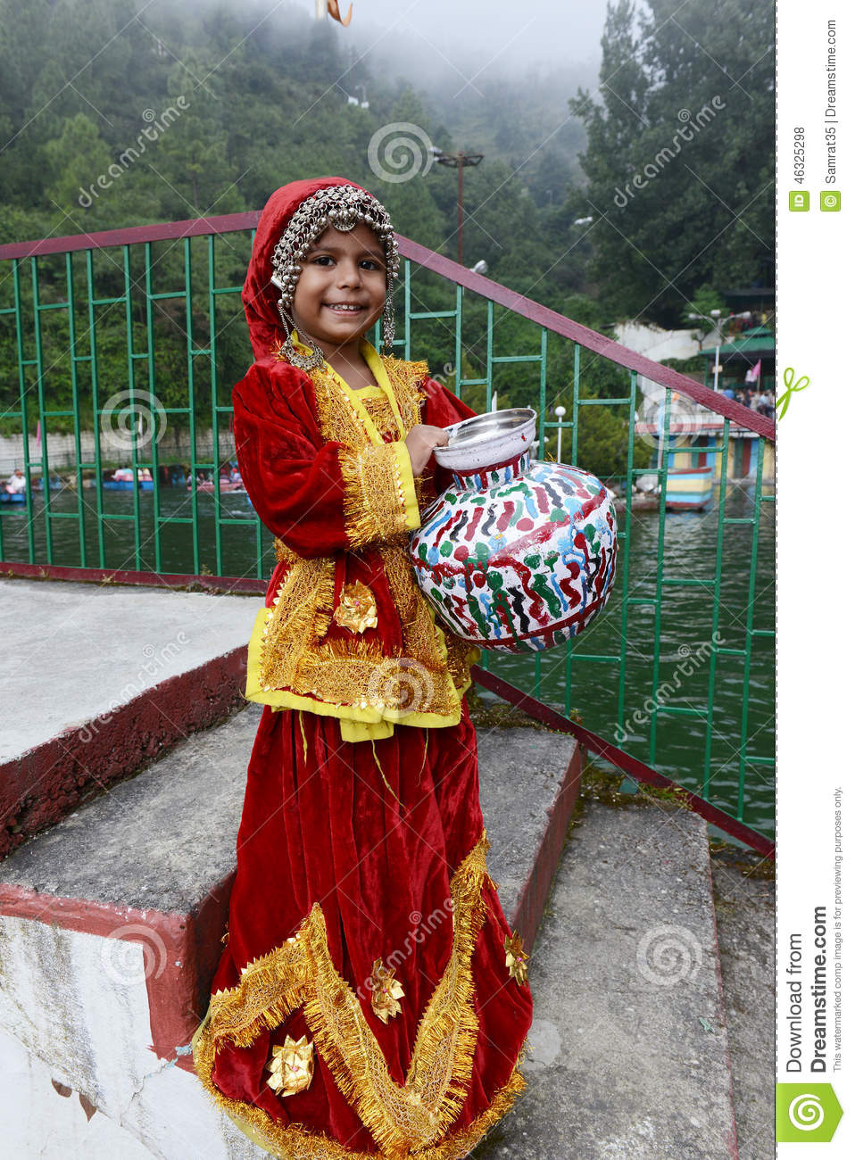 Photographed In Traditional Costume Editorial Stock Photo