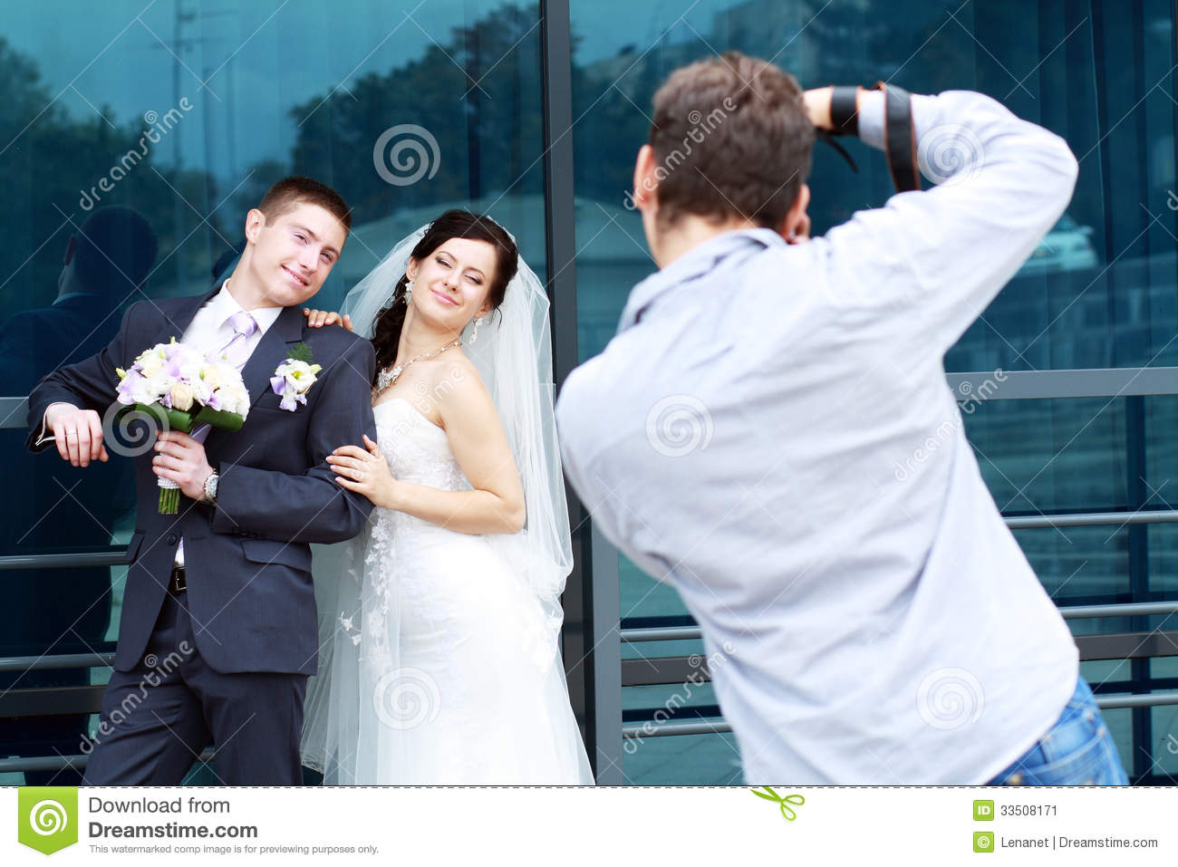 Photographer In Action Stock Image - Image: 33508171