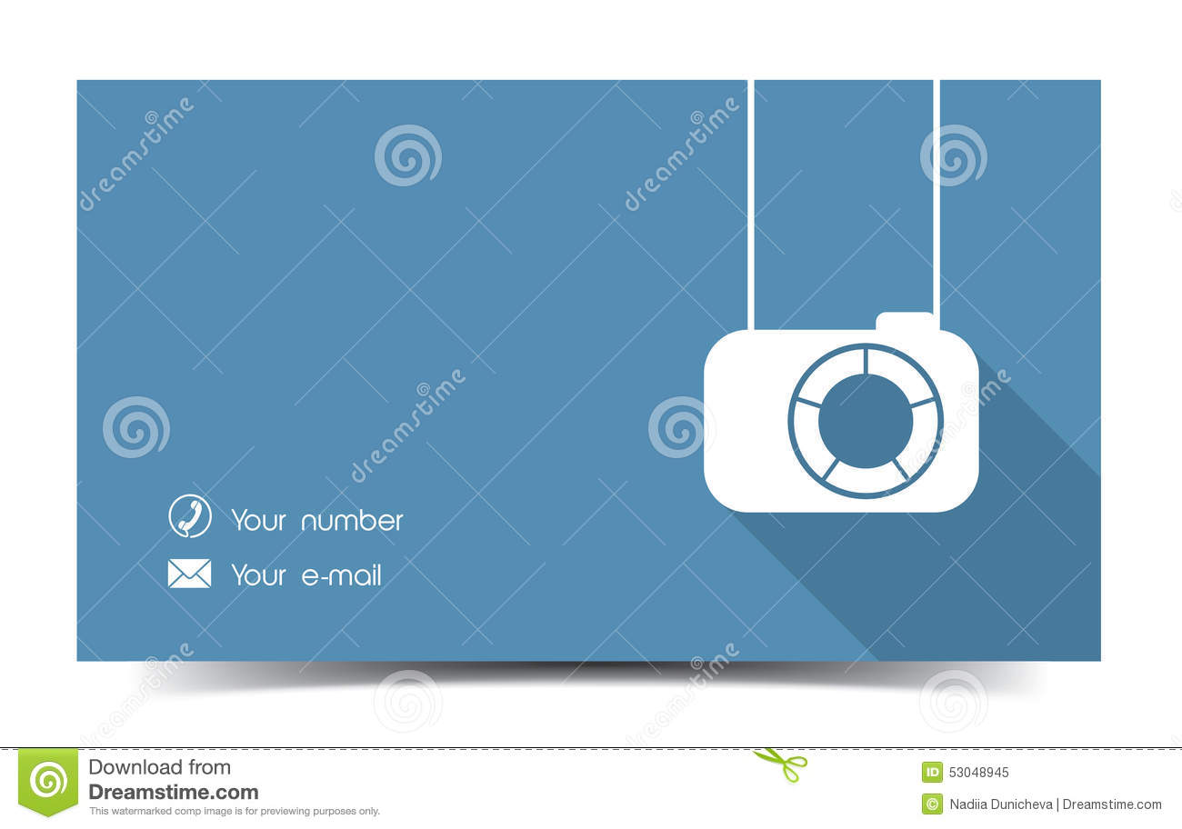 Photographer business card in a flat style stock vector download comp reheart Images