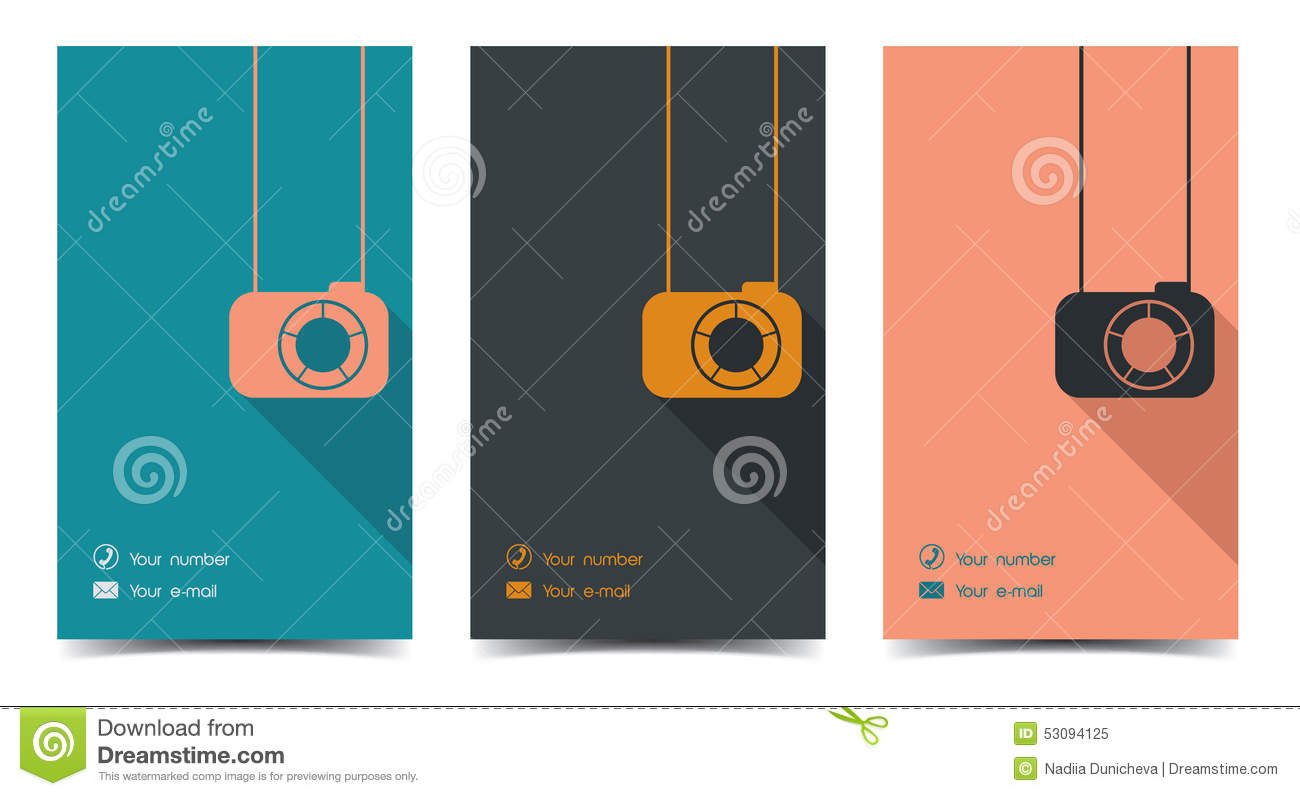 Photographer business card in a flat style stock vector download comp reheart Image collections