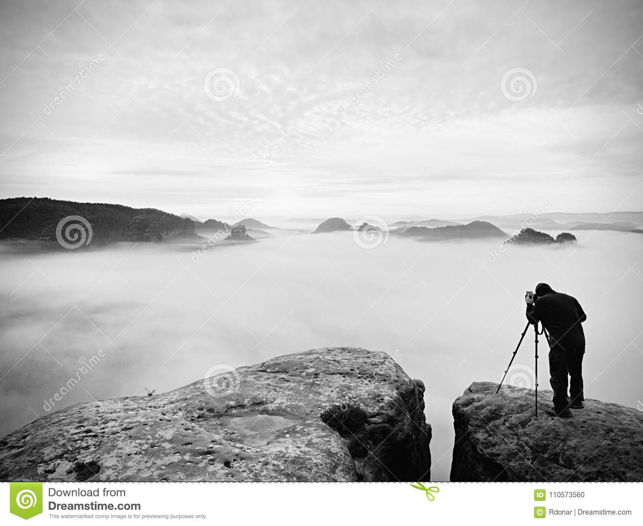 Photographer Framing Picture With Eye On Viewfinder. Photo ...