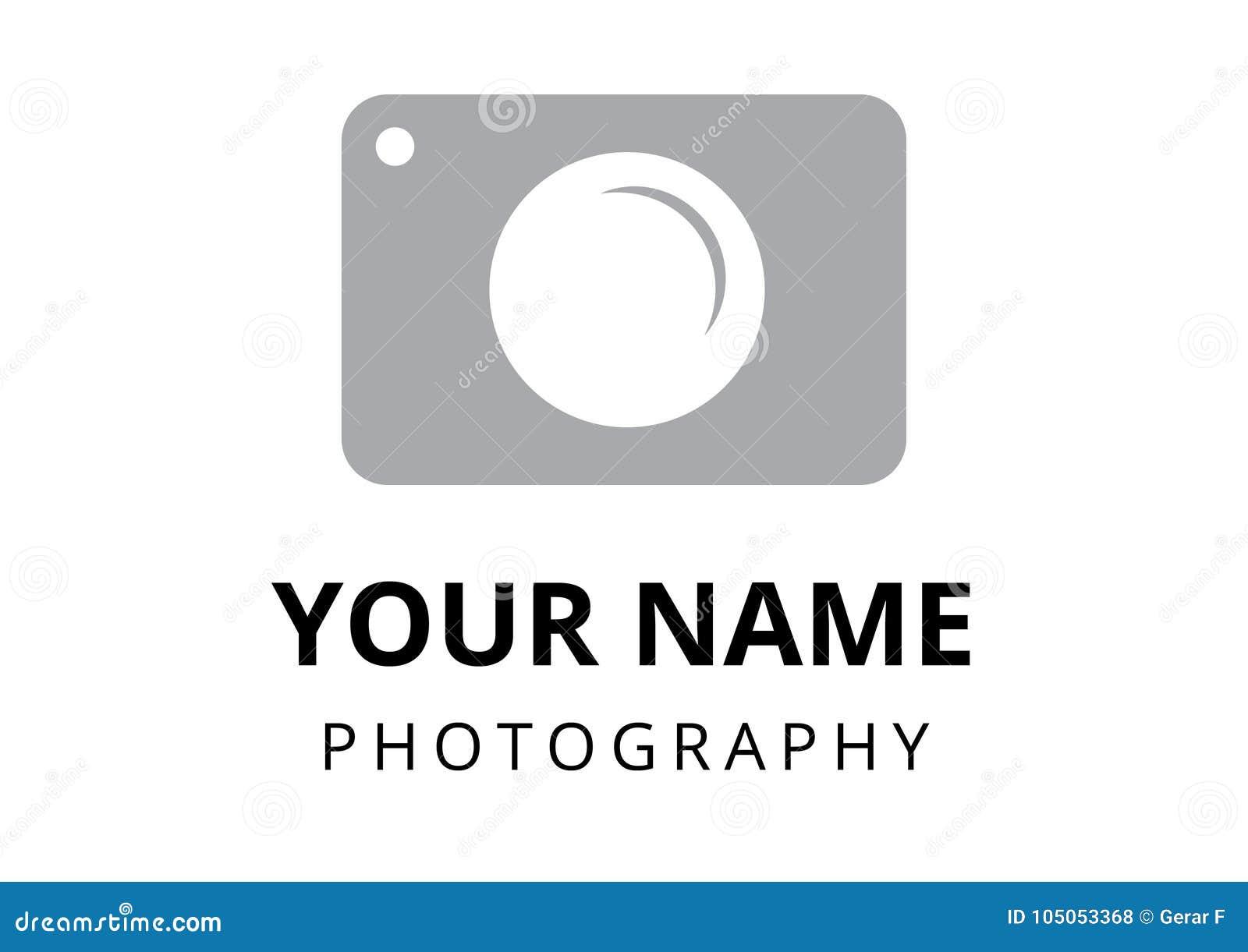 Photographer Logo Plain Style Stock Photo - Illustration of