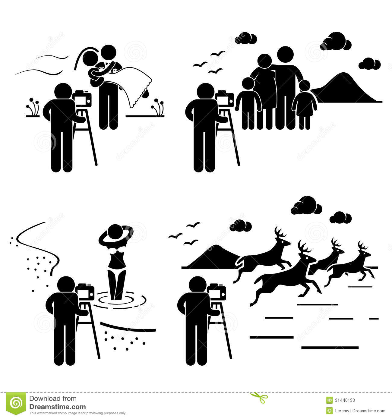 Stock Photos Photographer Photography Outdoor Pictogram Set People Pictograms Represent Wedding Family Model Image31440133 on illustration career information