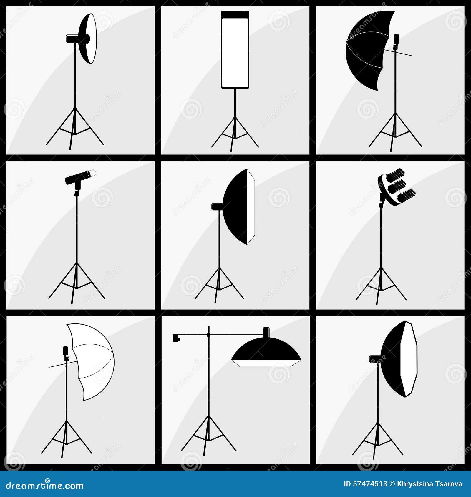 lighting set. Photographer Studio Lighting Set. Element, Accessories. Set I