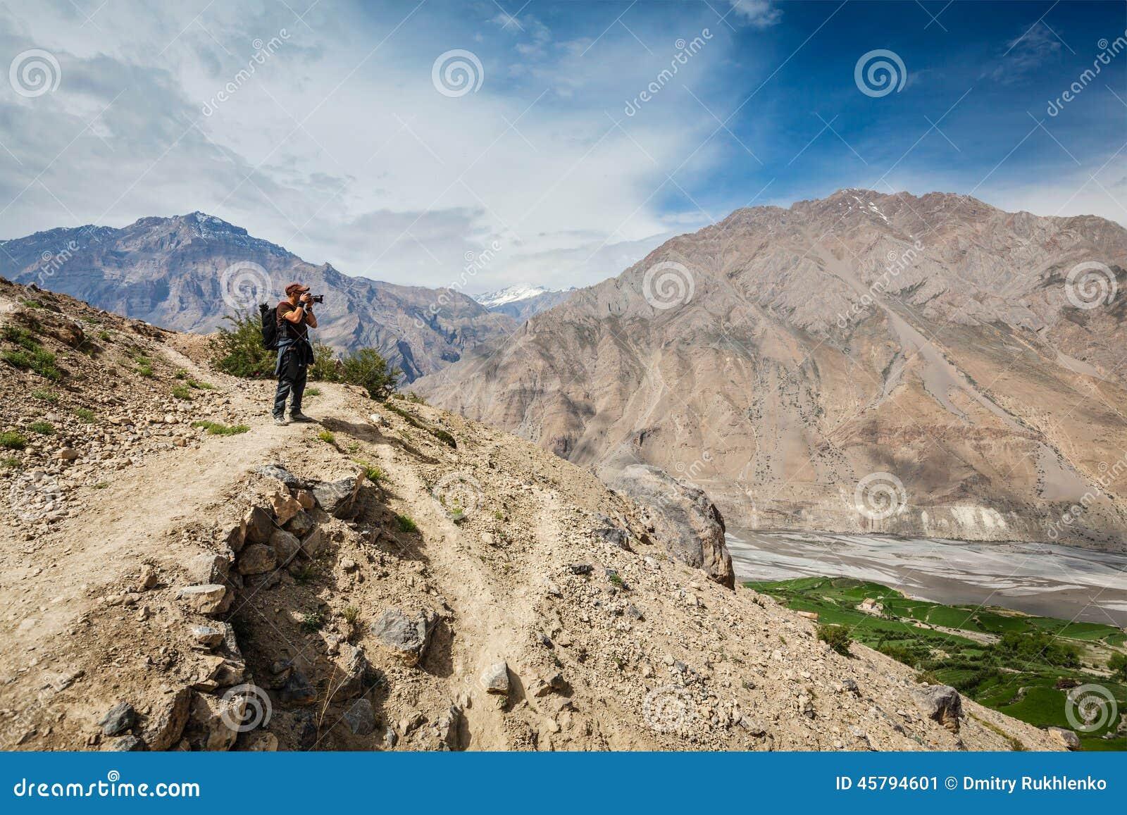 Photographer Taking Photos In Himalayas Royalty-Free Stock ...