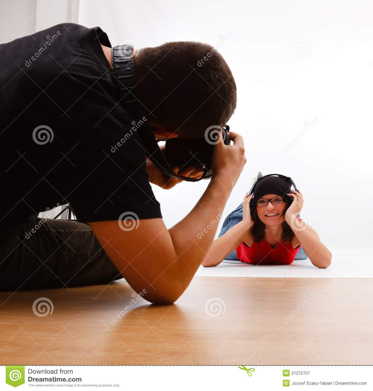 Photographer Taking Picture Royalty Free Stock Photography