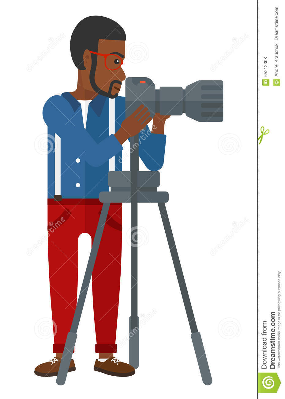 Photographer working with camera