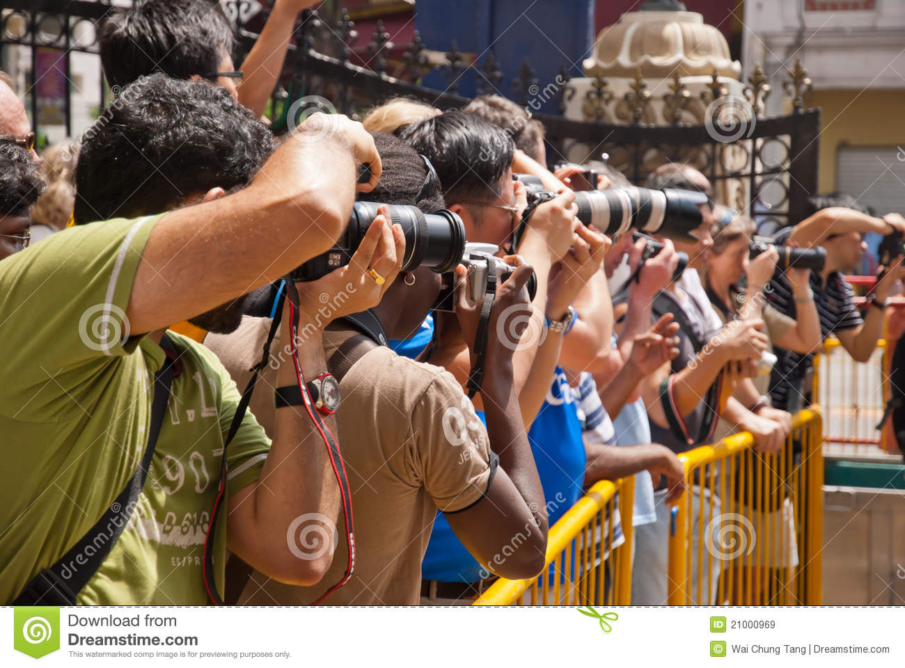 Photographers at event